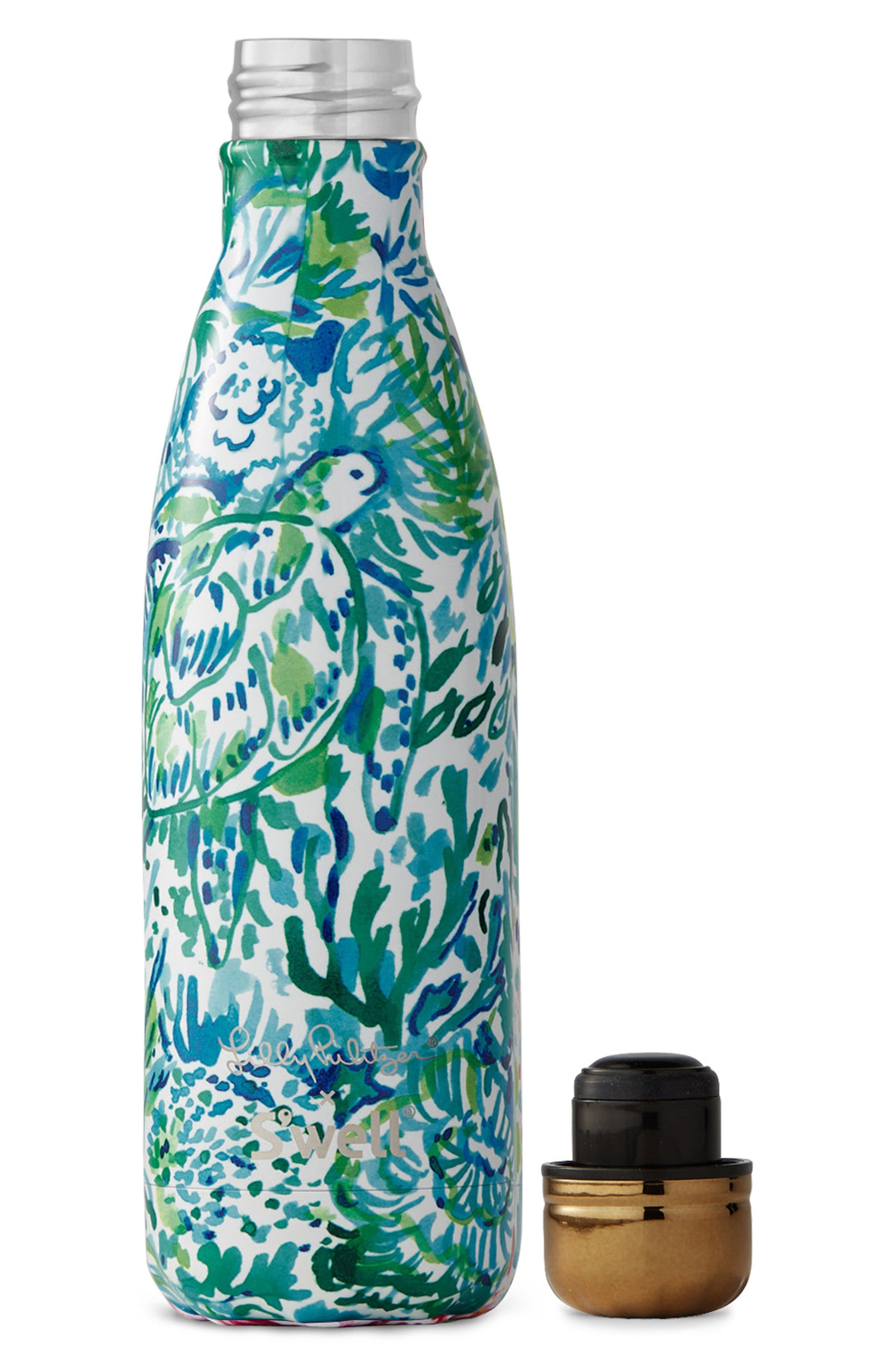 x Lilly Pulitzer<sup>®</sup> Race to the Wave 17-Ounce Stainless Steel Water Bottle,                             Alternate thumbnail 3, color,                             100