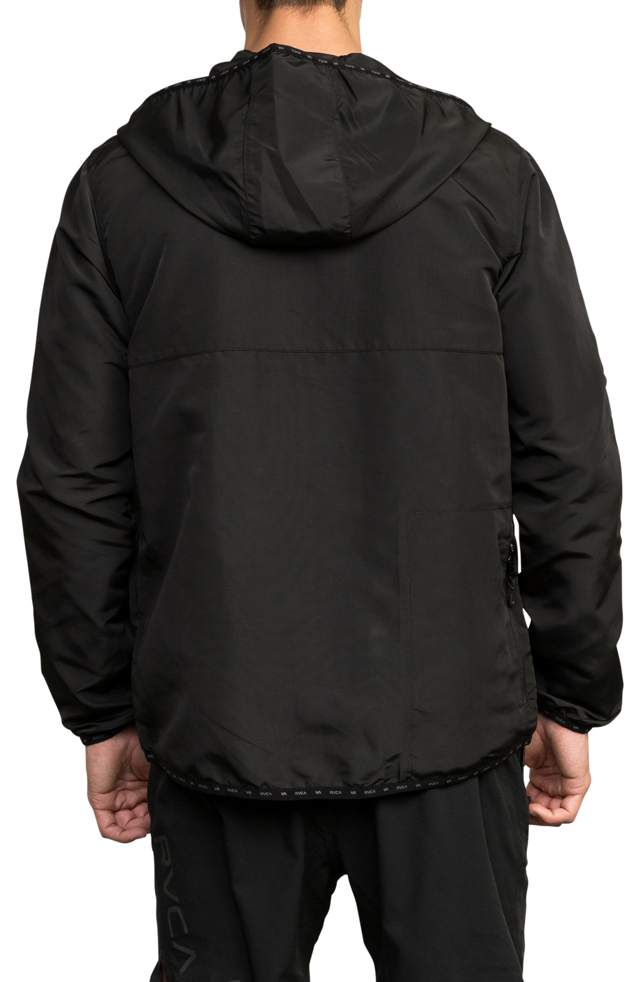 Axe Packable Water Resistant Jacket,                             Alternate thumbnail 2, color,                             BLACK