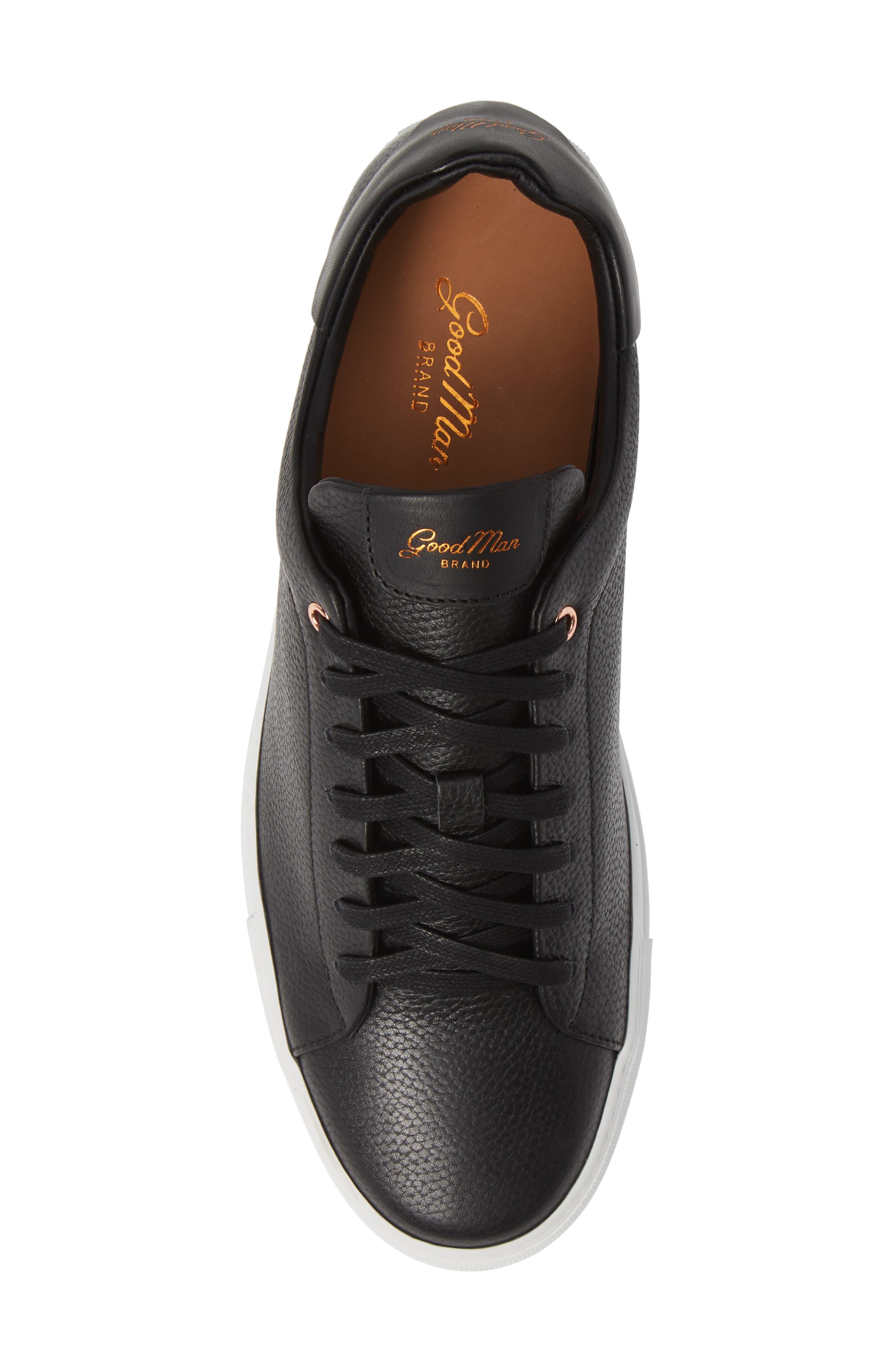 Legend Low Top Sneaker,                             Alternate thumbnail 5, color,                             BLACK PEBBLE LEATHER