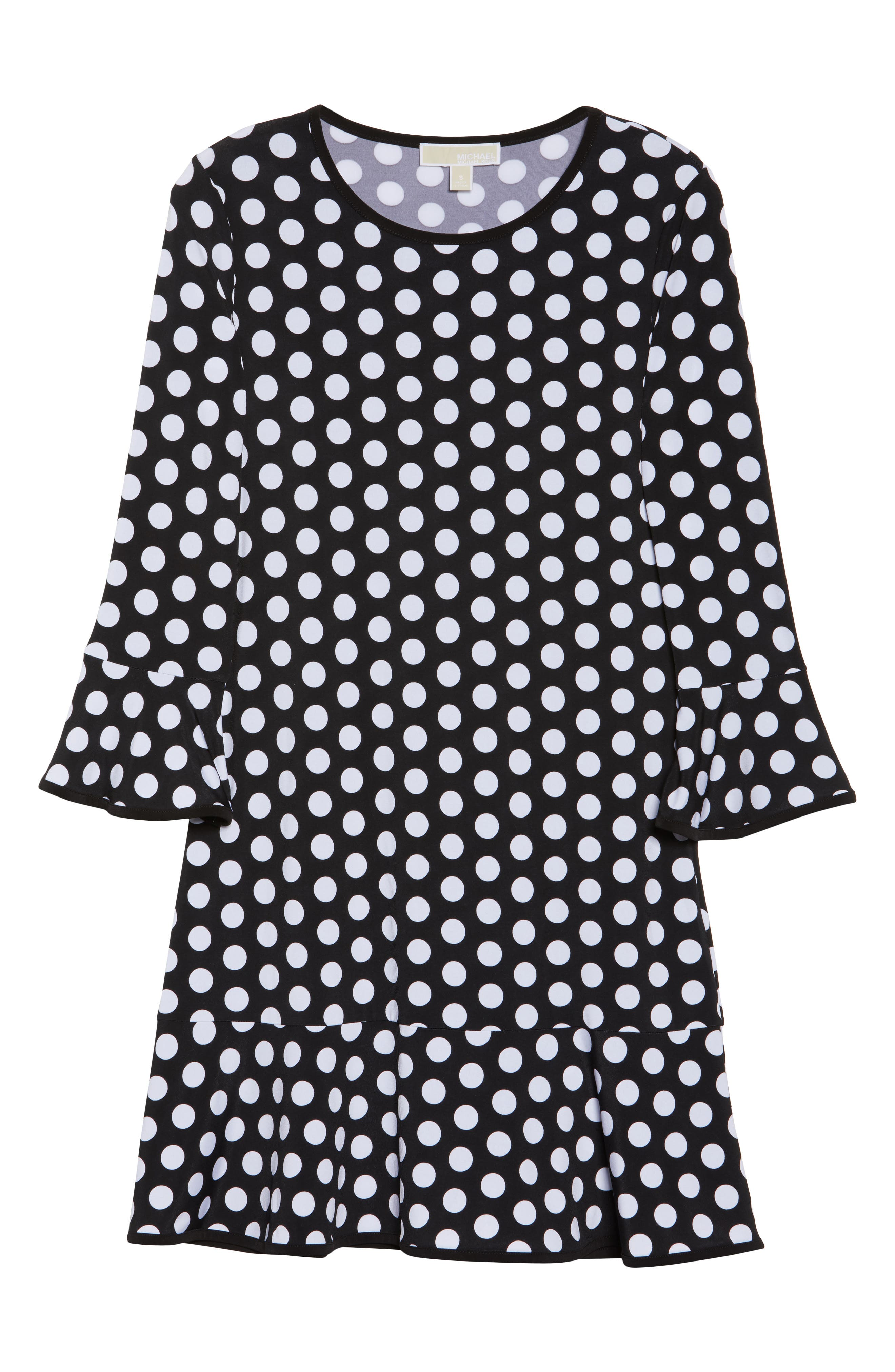 Simple Dot Swing Dress,                             Alternate thumbnail 6, color,