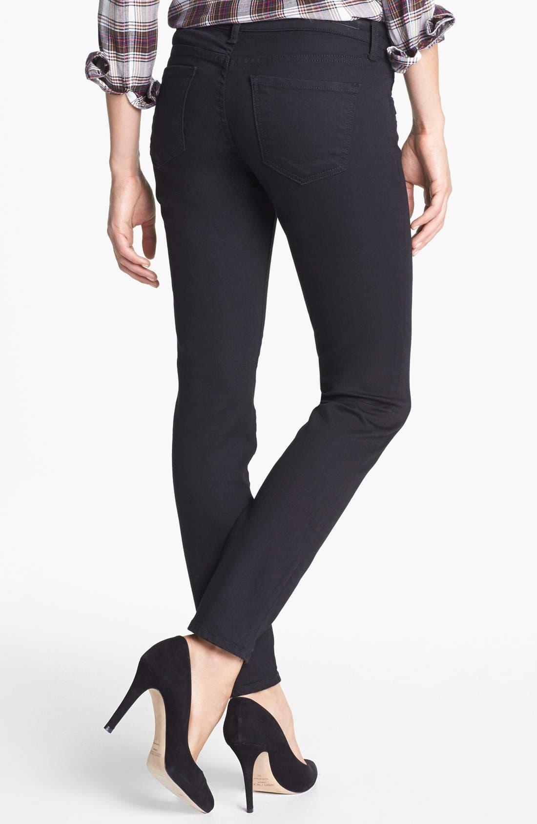 Zipper Detail Skinny Jeans,                             Alternate thumbnail 2, color,                             002