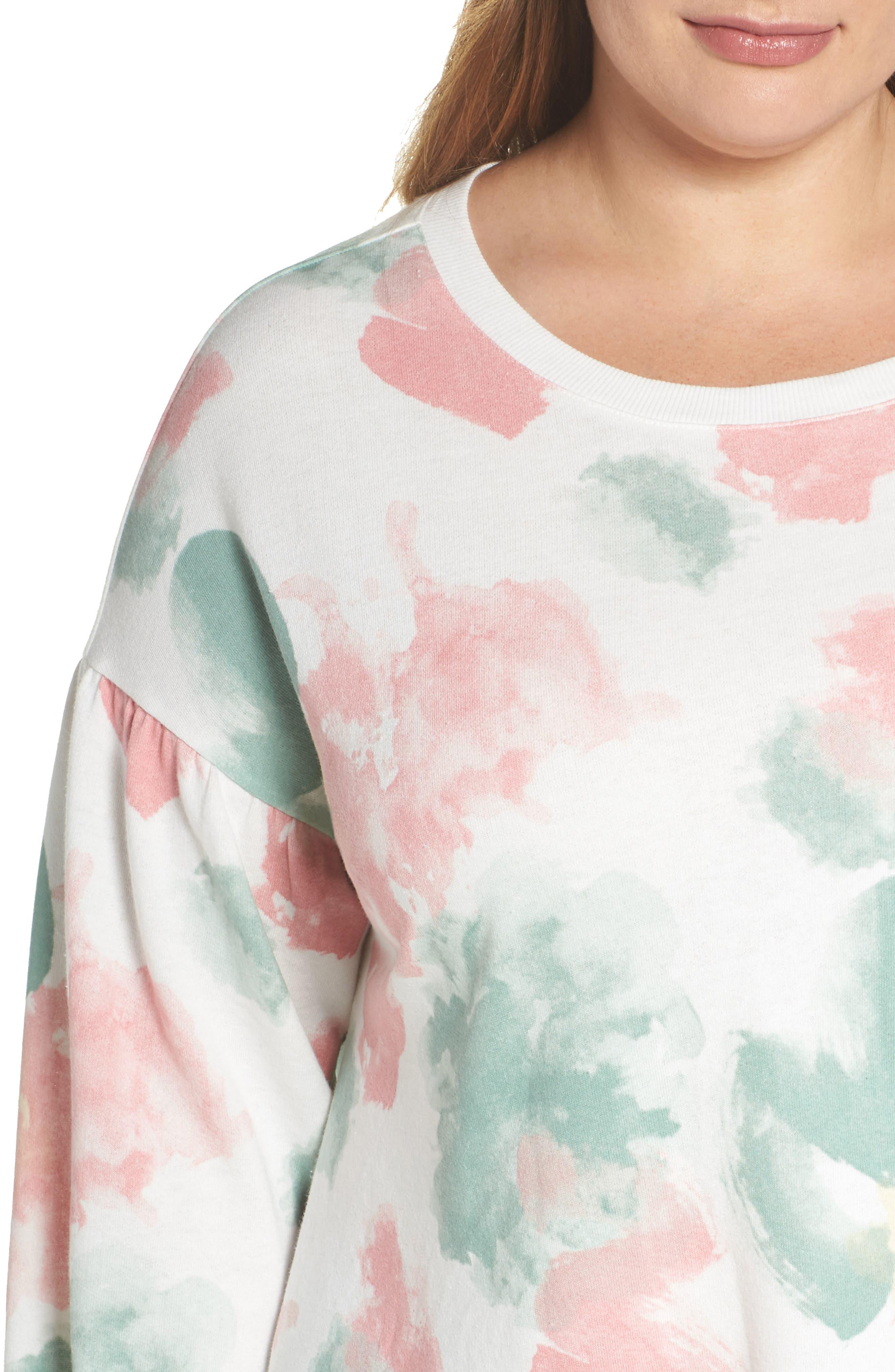 Blouson Sleeve Sweatshirt,                             Alternate thumbnail 4, color,
