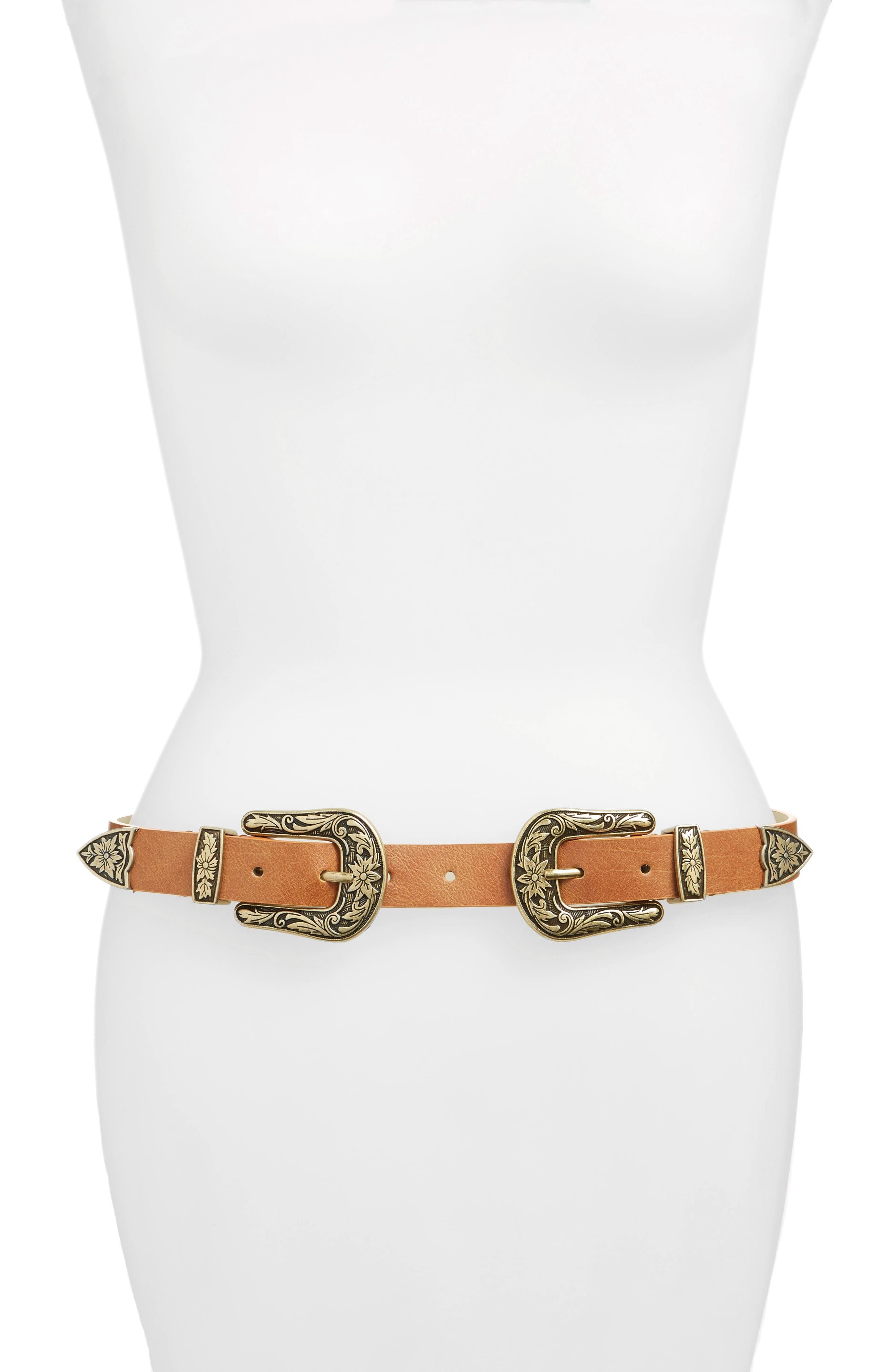 Double Buckle Belt,                             Main thumbnail 2, color,