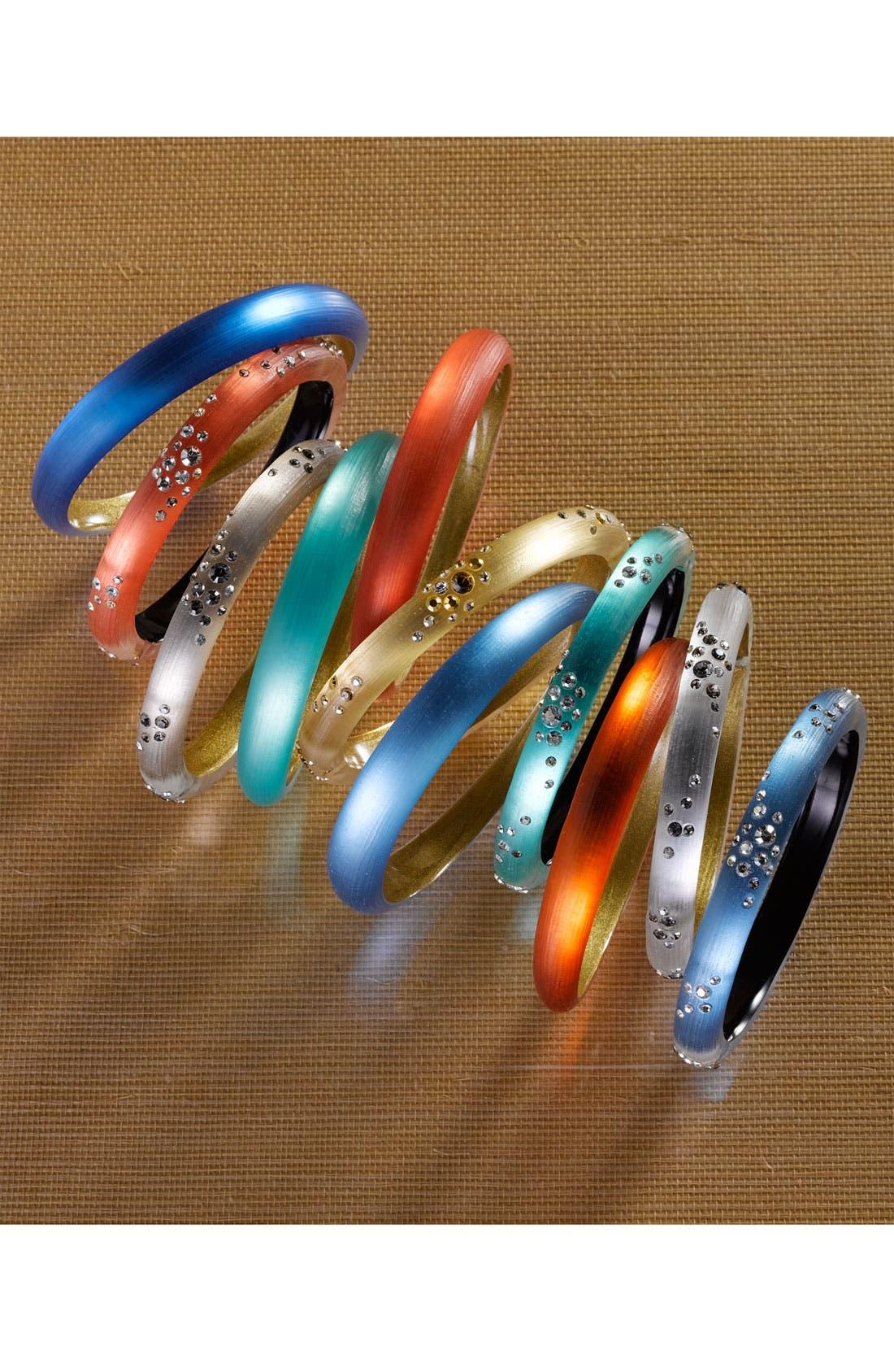 ALEXIS BITTAR,                             'Smoky Dust' Small Hinged Bracelet,                             Alternate thumbnail 3, color,                             040