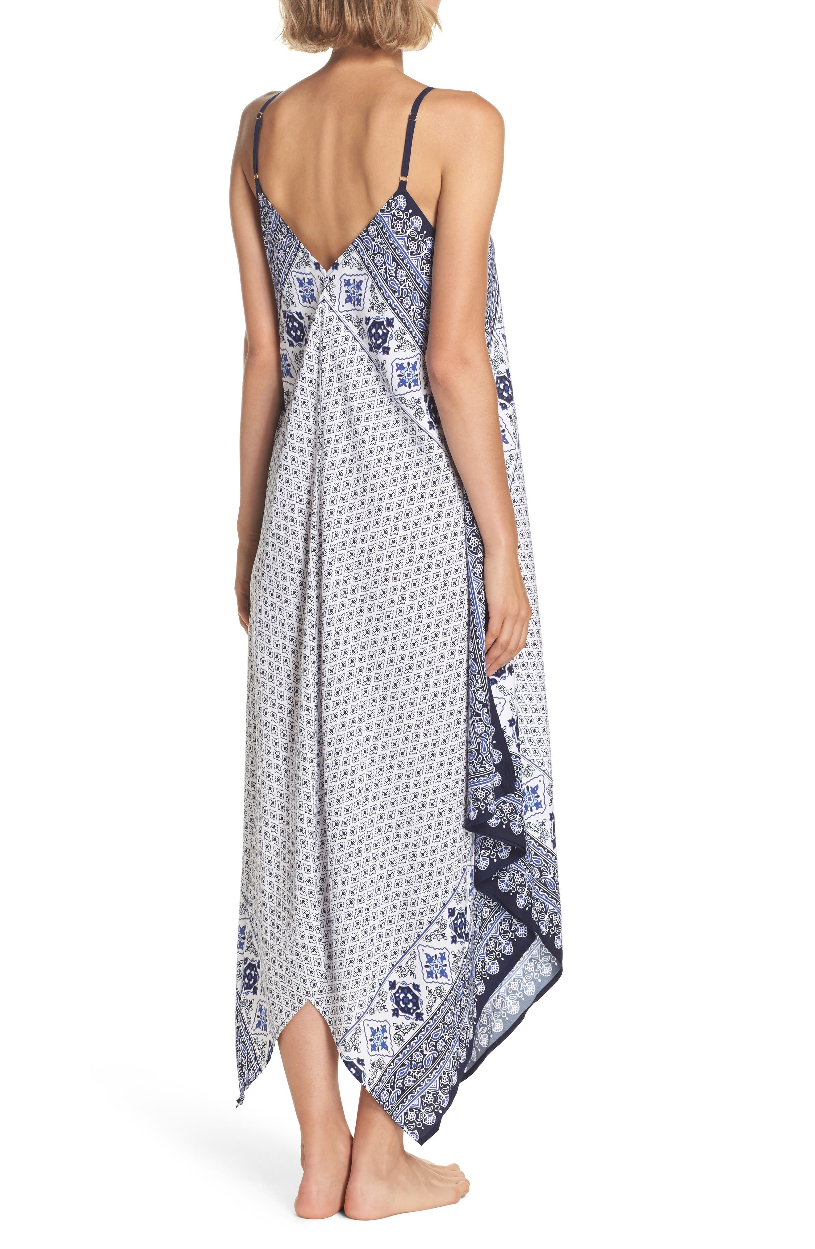 Border Print Cover-Up Maxi Dress,                             Alternate thumbnail 2, color,                             400