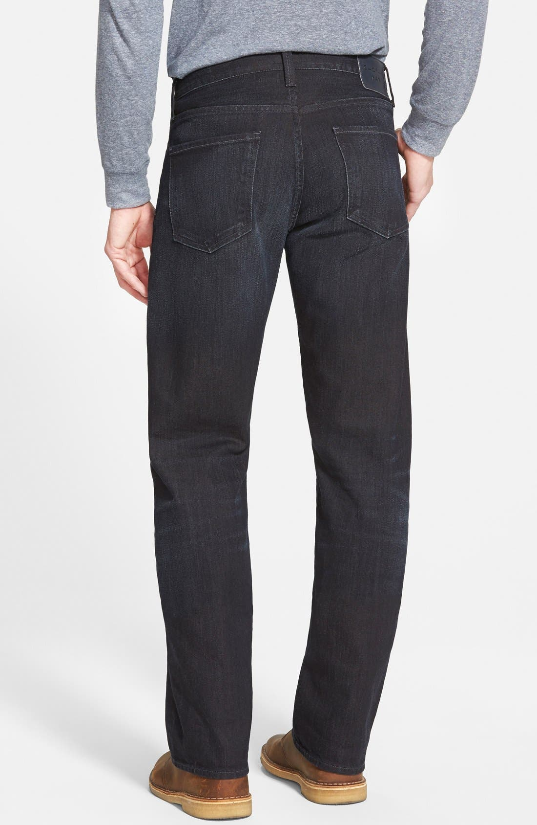 'Evans' Relaxed Fit Jeans,                             Alternate thumbnail 3, color,                             MACON