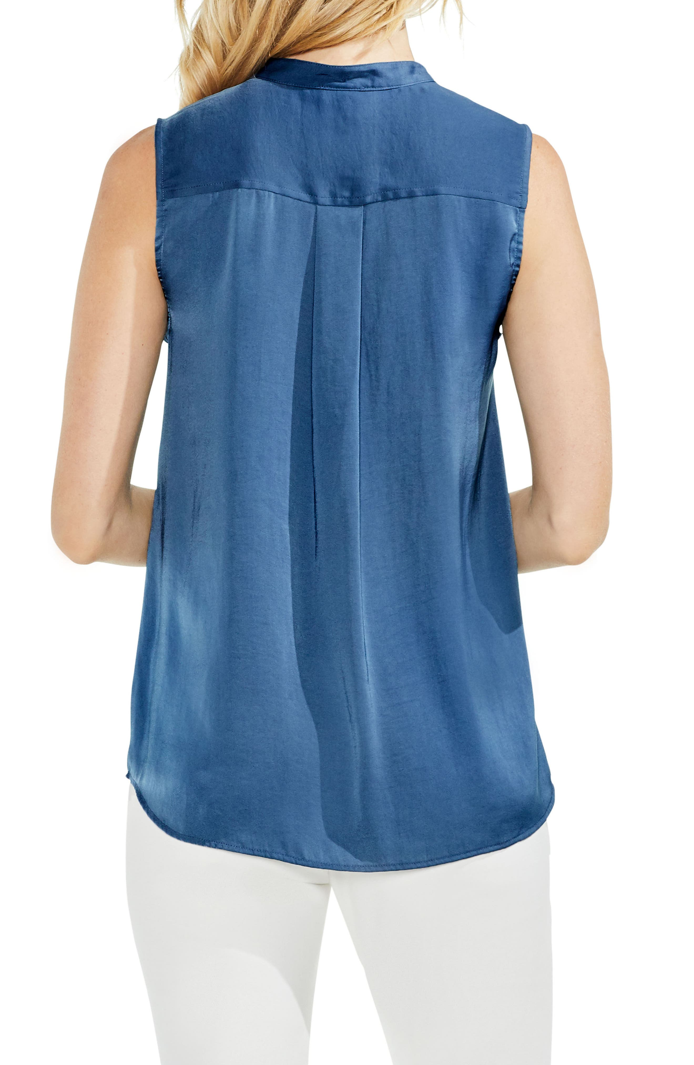 Sleeveless Henley Blouse,                             Alternate thumbnail 7, color,