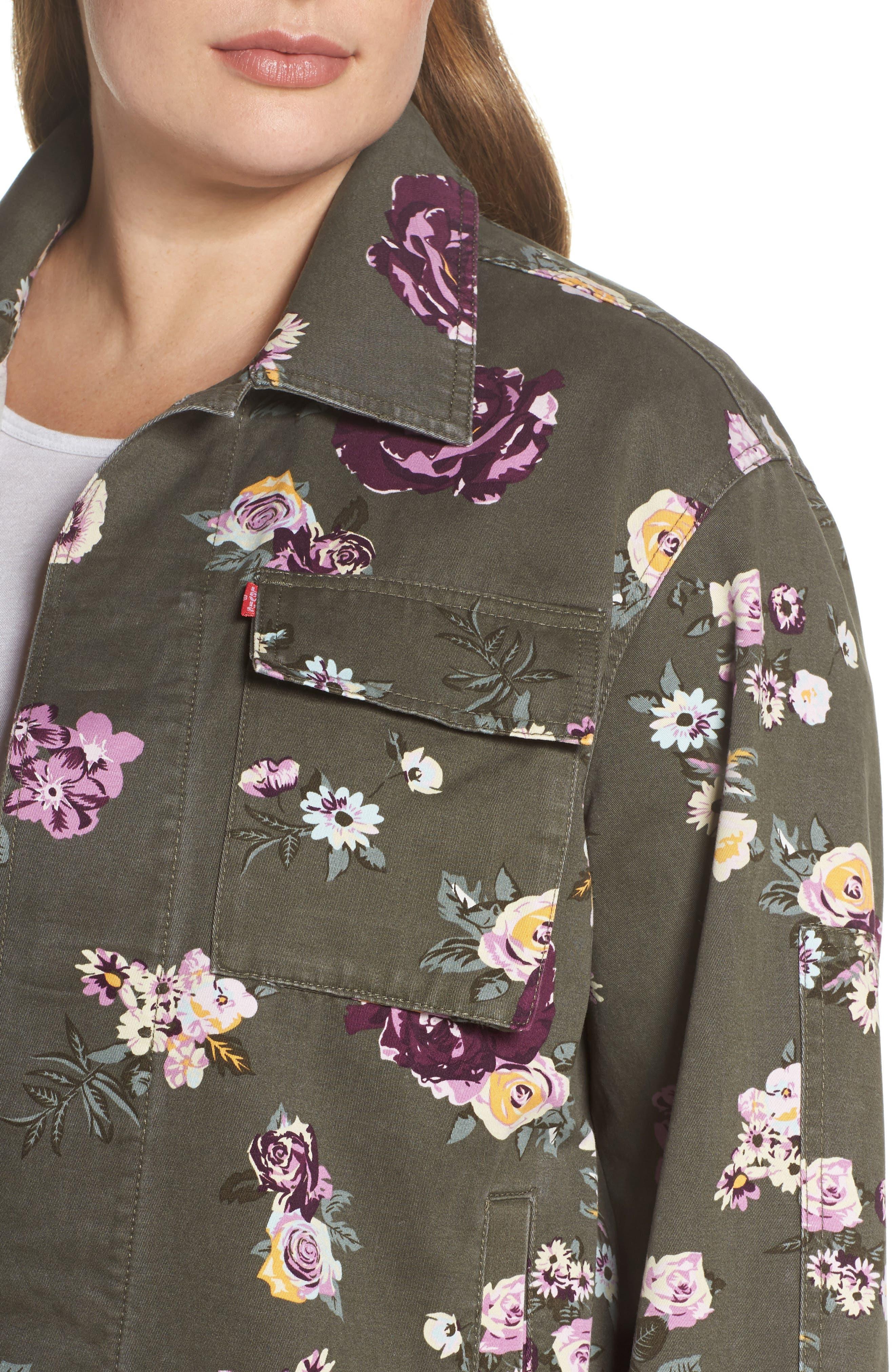 High/Low Shirt Jacket,                             Alternate thumbnail 4, color,                             103