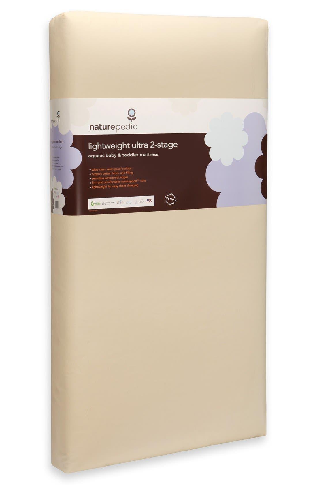 Lightweight Organic Cotton Ultra 2-Stage Crib Mattress,                             Alternate thumbnail 4, color,