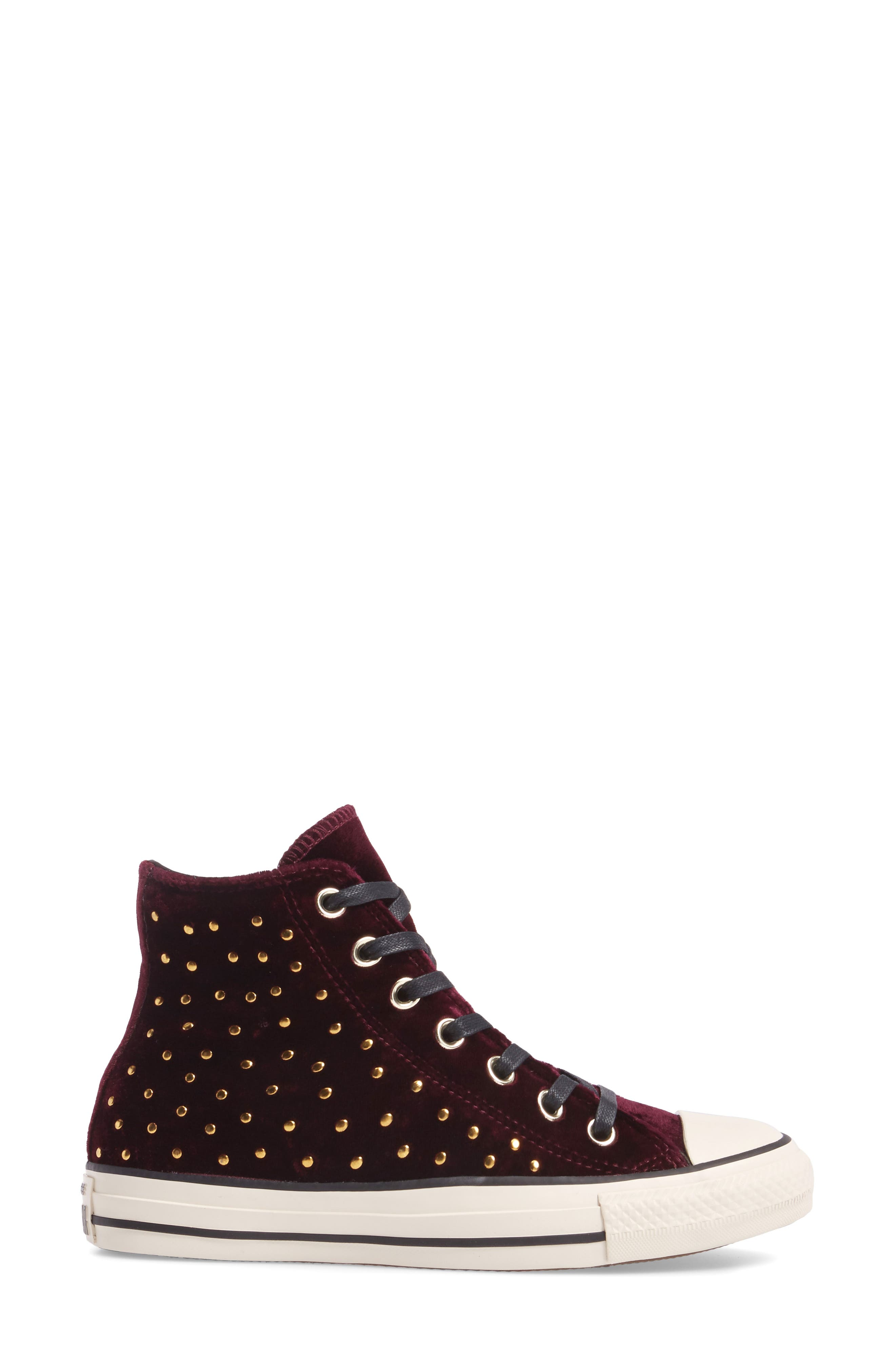 Chuck Taylor<sup>®</sup> All Star<sup>®</sup> Studded High Top Sneakers,                             Alternate thumbnail 9, color,