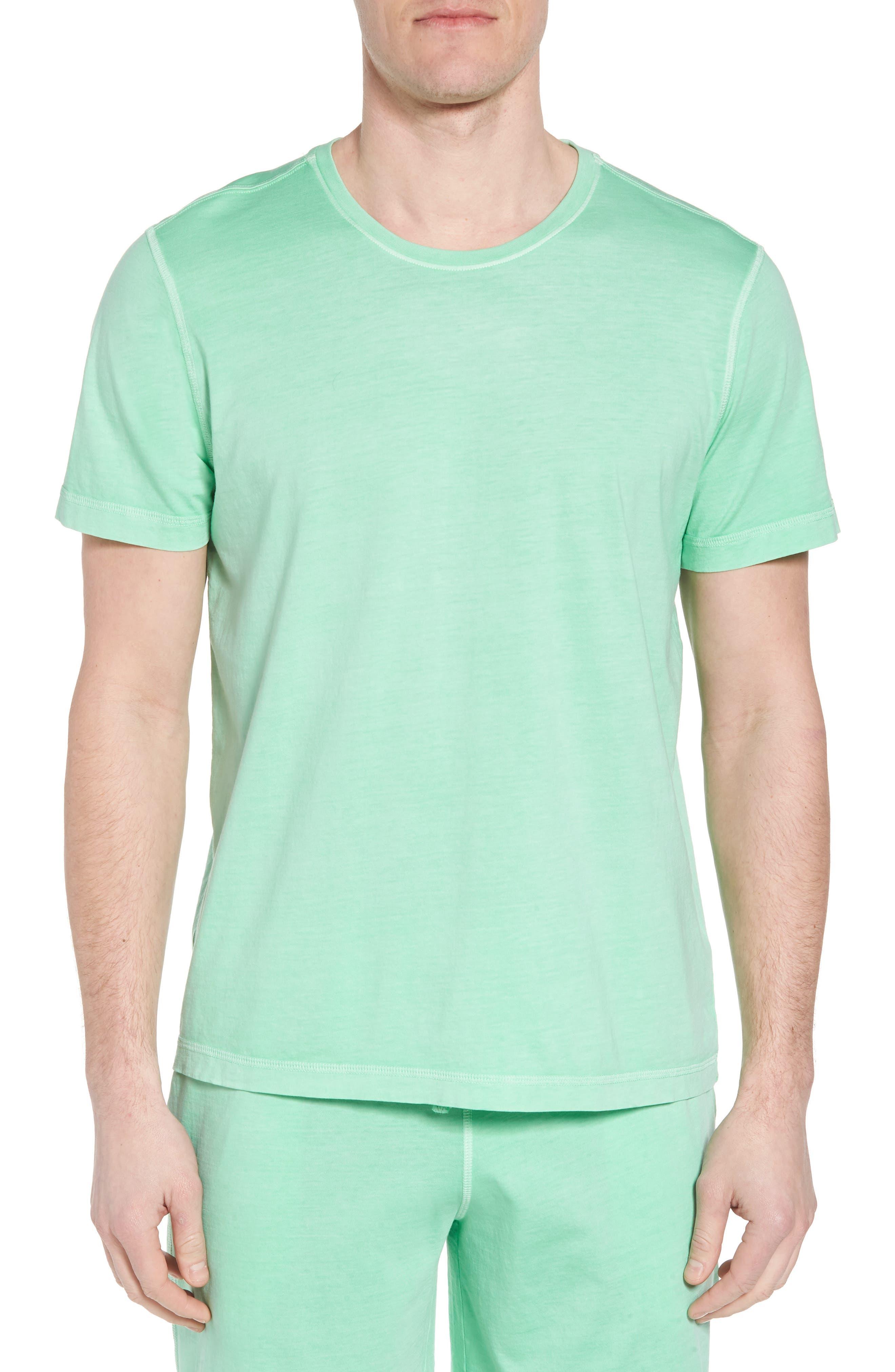 Peruvian Pima Cotton Crewneck T-Shirt,                             Main thumbnail 1, color,                             LIME