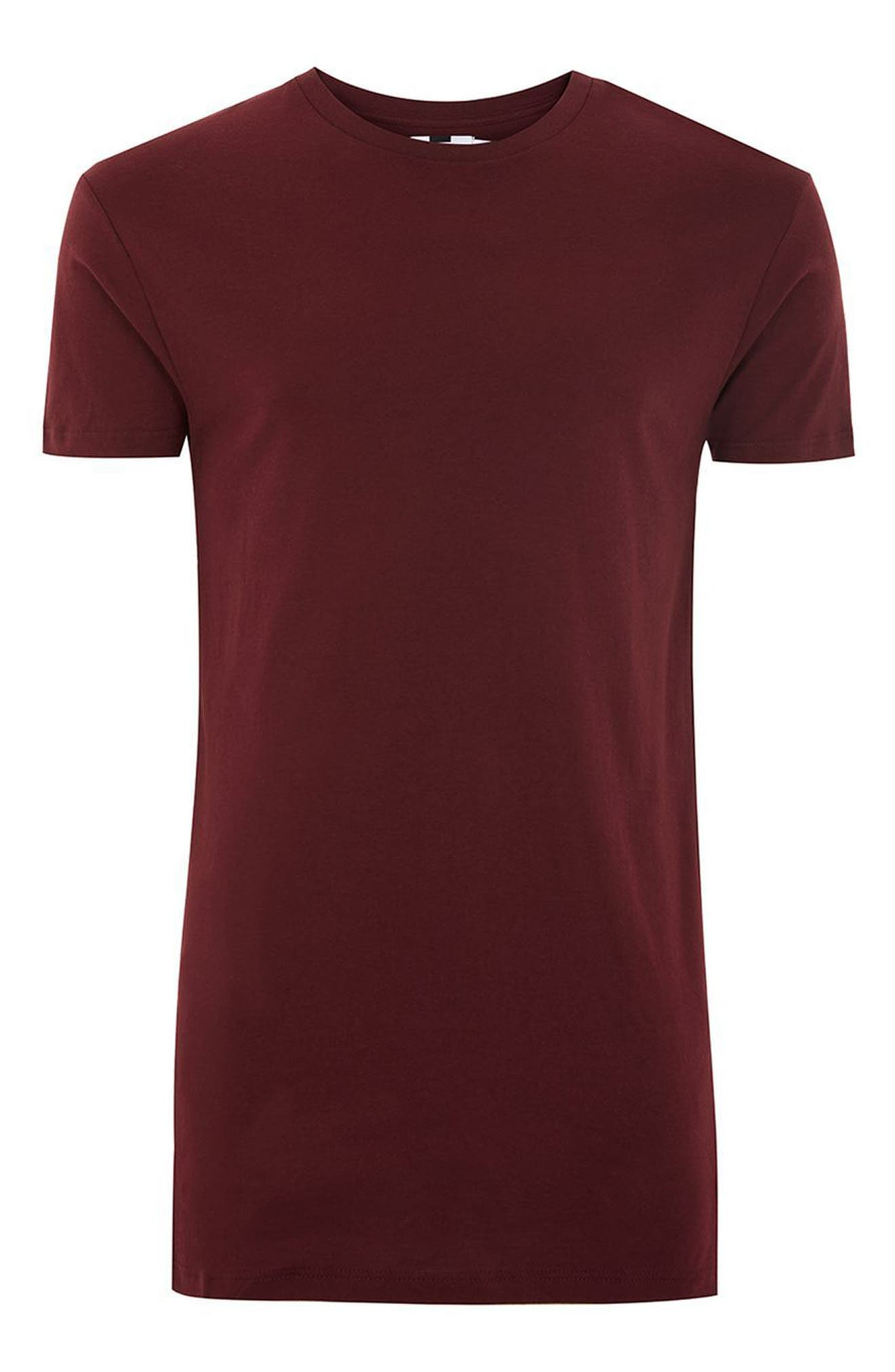 Muscle Fit Longline T-Shirt,                             Alternate thumbnail 4, color,                             930