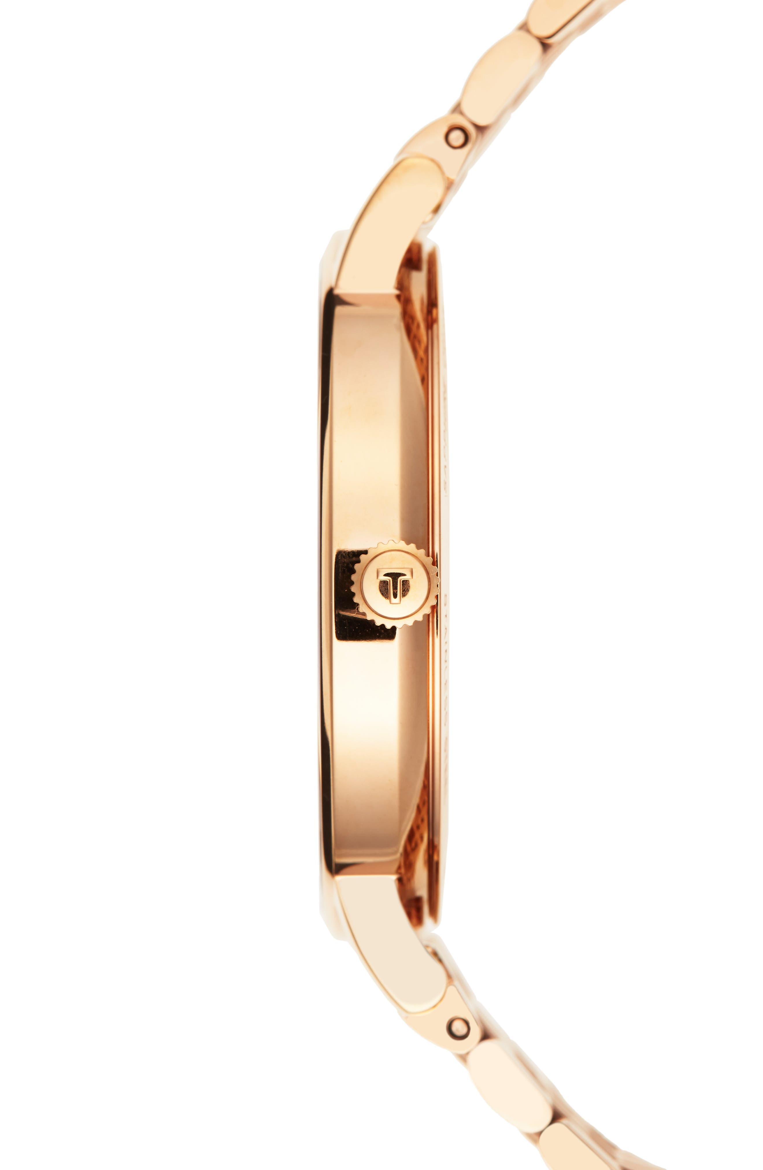 Everytime Medium Bracelet Watch, 38mm,                             Alternate thumbnail 3, color,                             ROSE GOLD/ SILVER/ ROSE GOLD