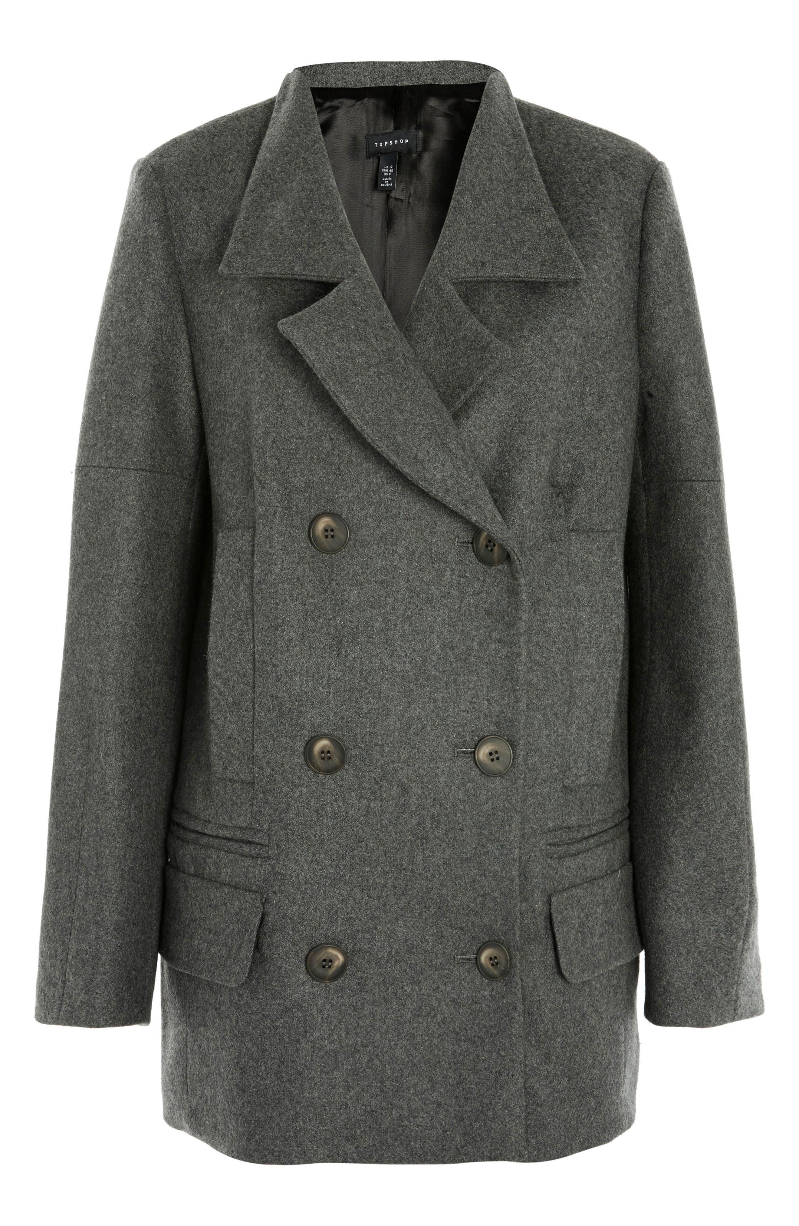 Wool Blend Peacoat,                         Main,                         color,