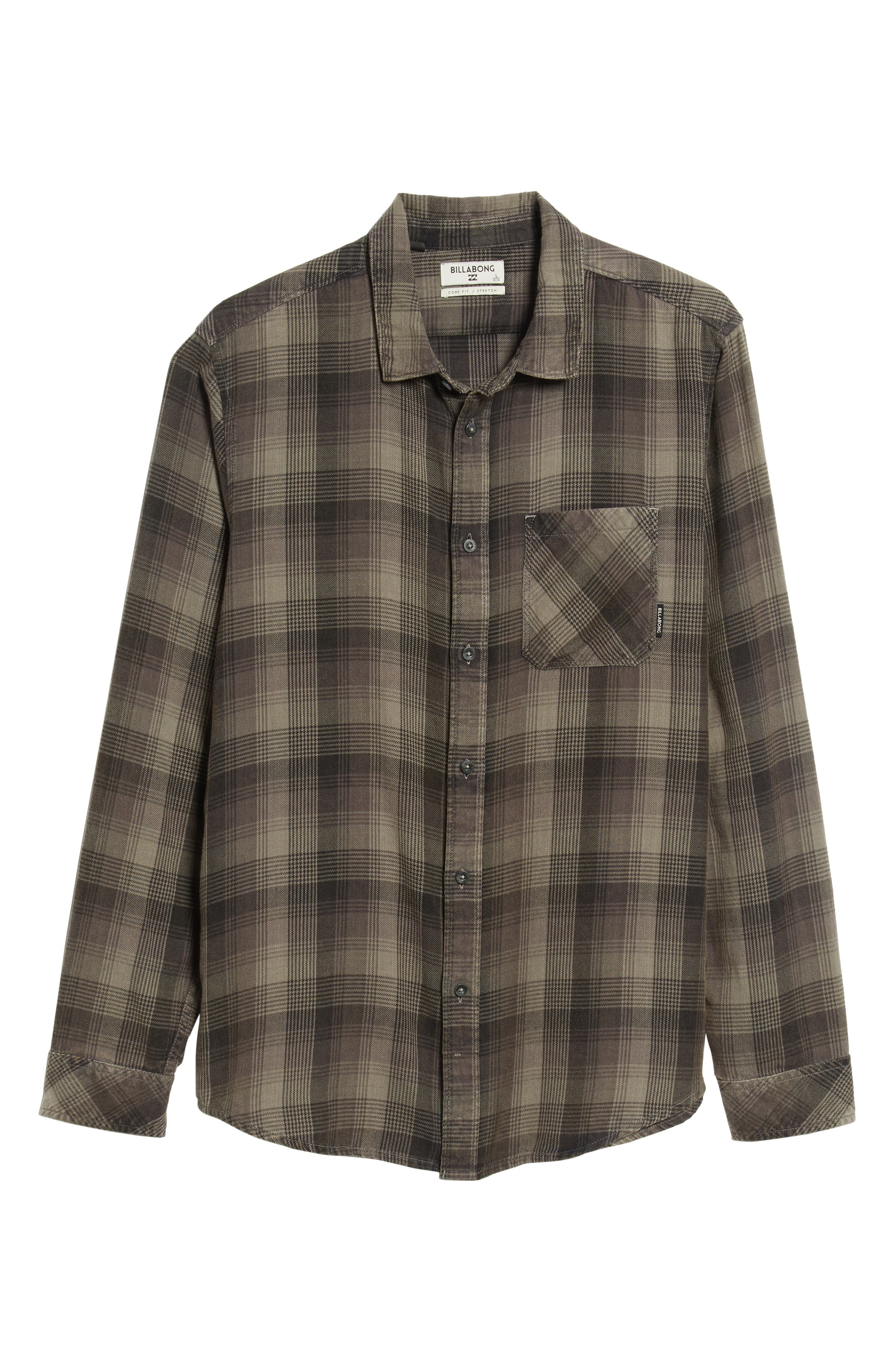 Freemont Flannel Shirt,                             Alternate thumbnail 5, color,                             CHARCOAL