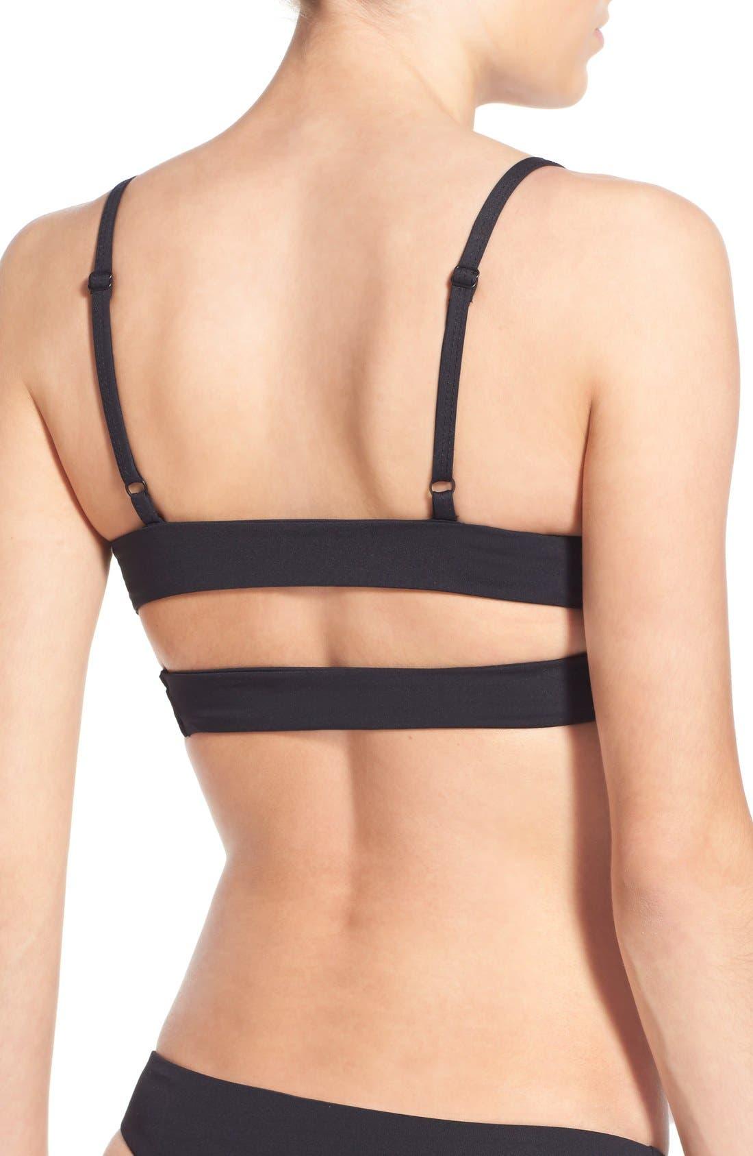 'Jessi' Cutout Triangle Bikini Top,                             Alternate thumbnail 39, color,