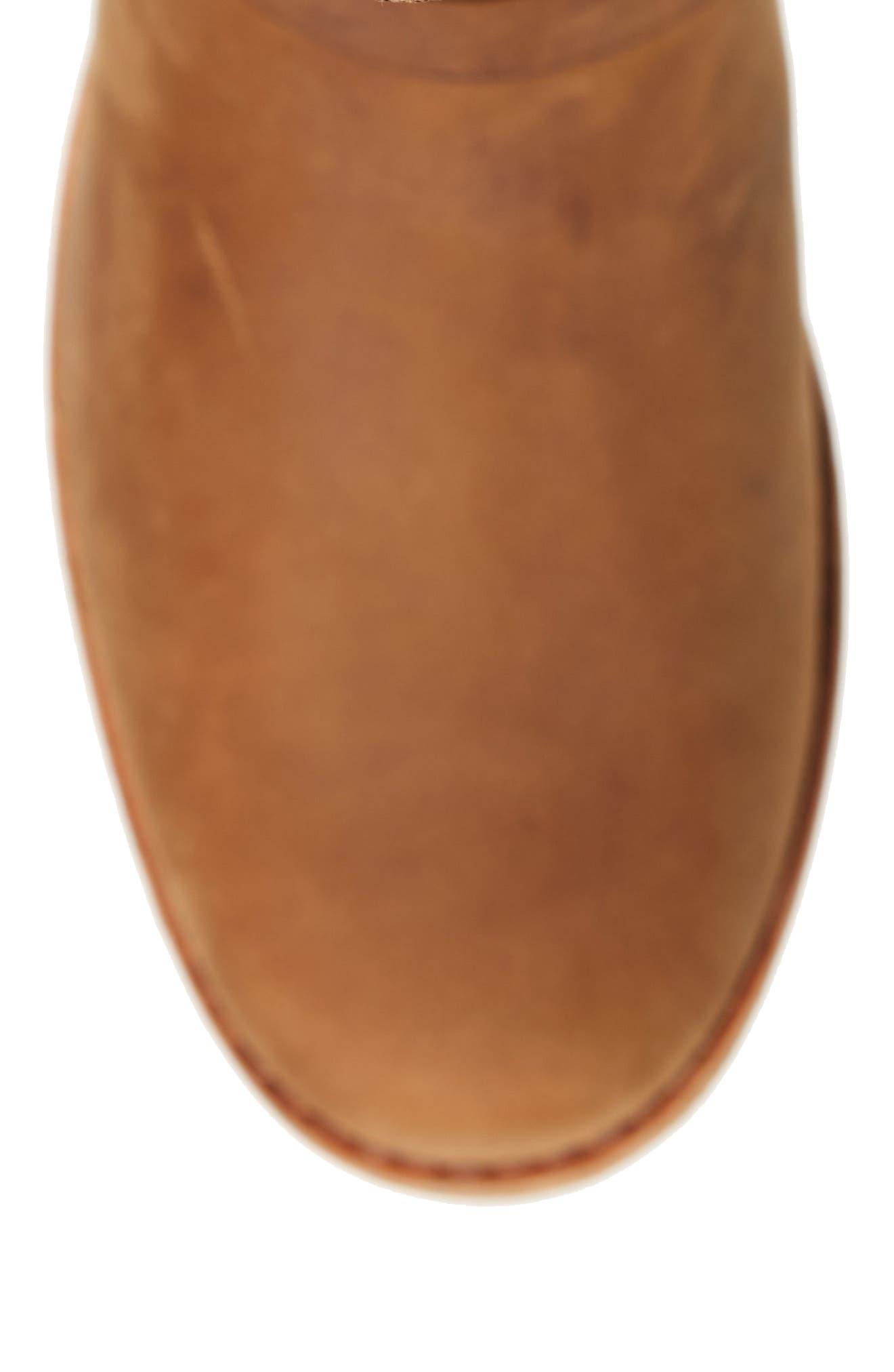 De La Vina Waterproof Boot,                             Alternate thumbnail 5, color,                             BISON LEATHER