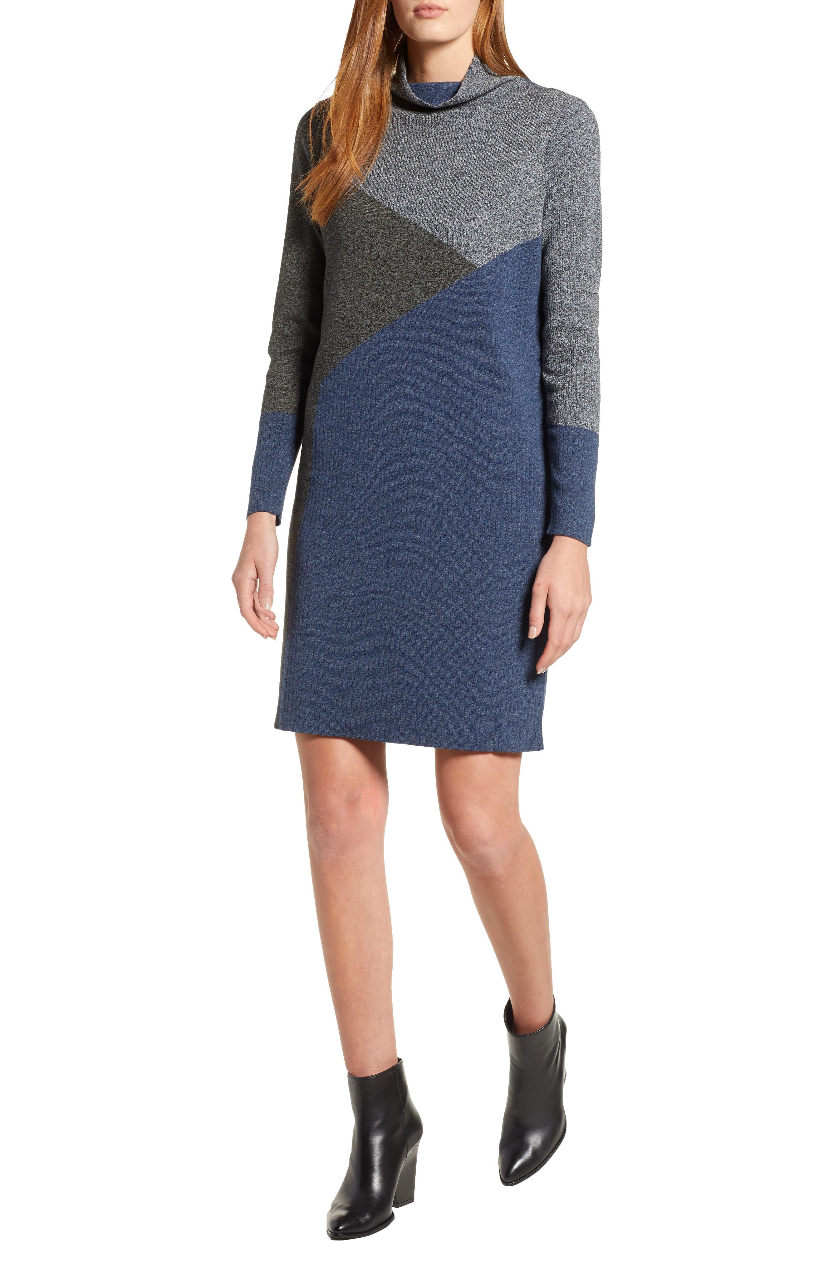 Laid Back Sweater Dress, Main, color, 090