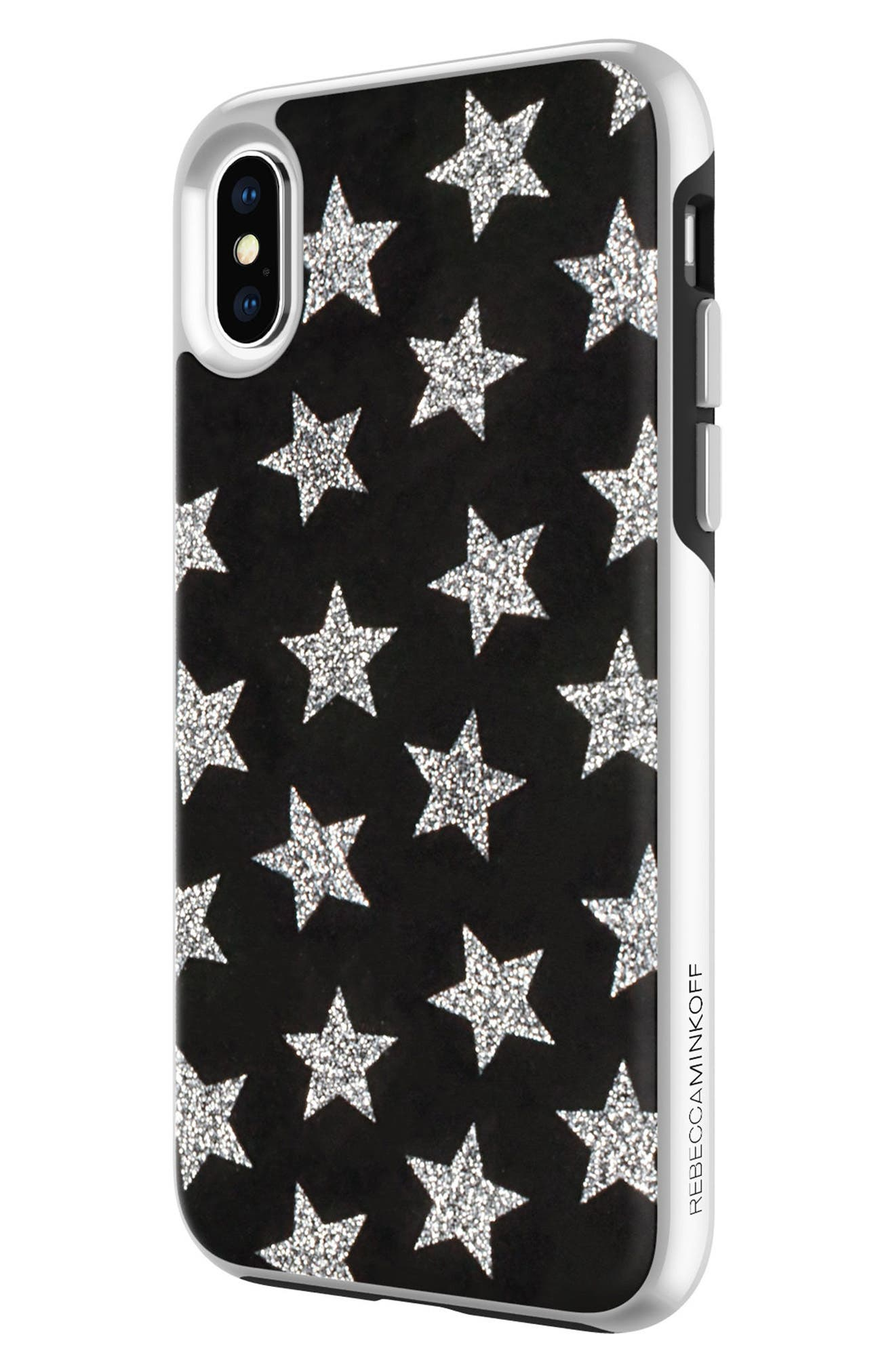 REBECCA MINKOFF,                             Glitterfall iPhone 8 Plus Case,                             Alternate thumbnail 5, color,                             001