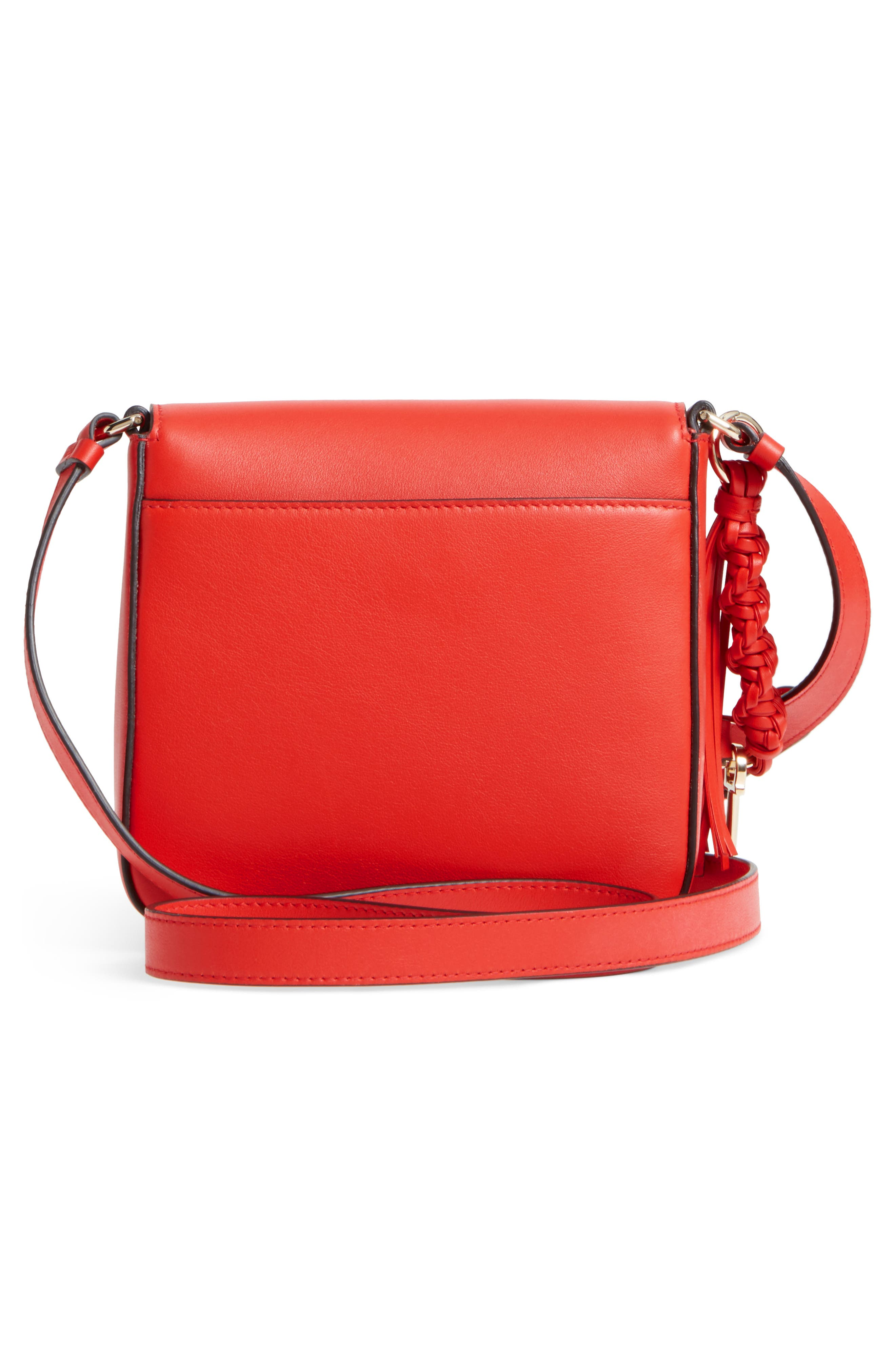 Gancio Lock Leather Crossbody Bag,                             Alternate thumbnail 3, color,                             950