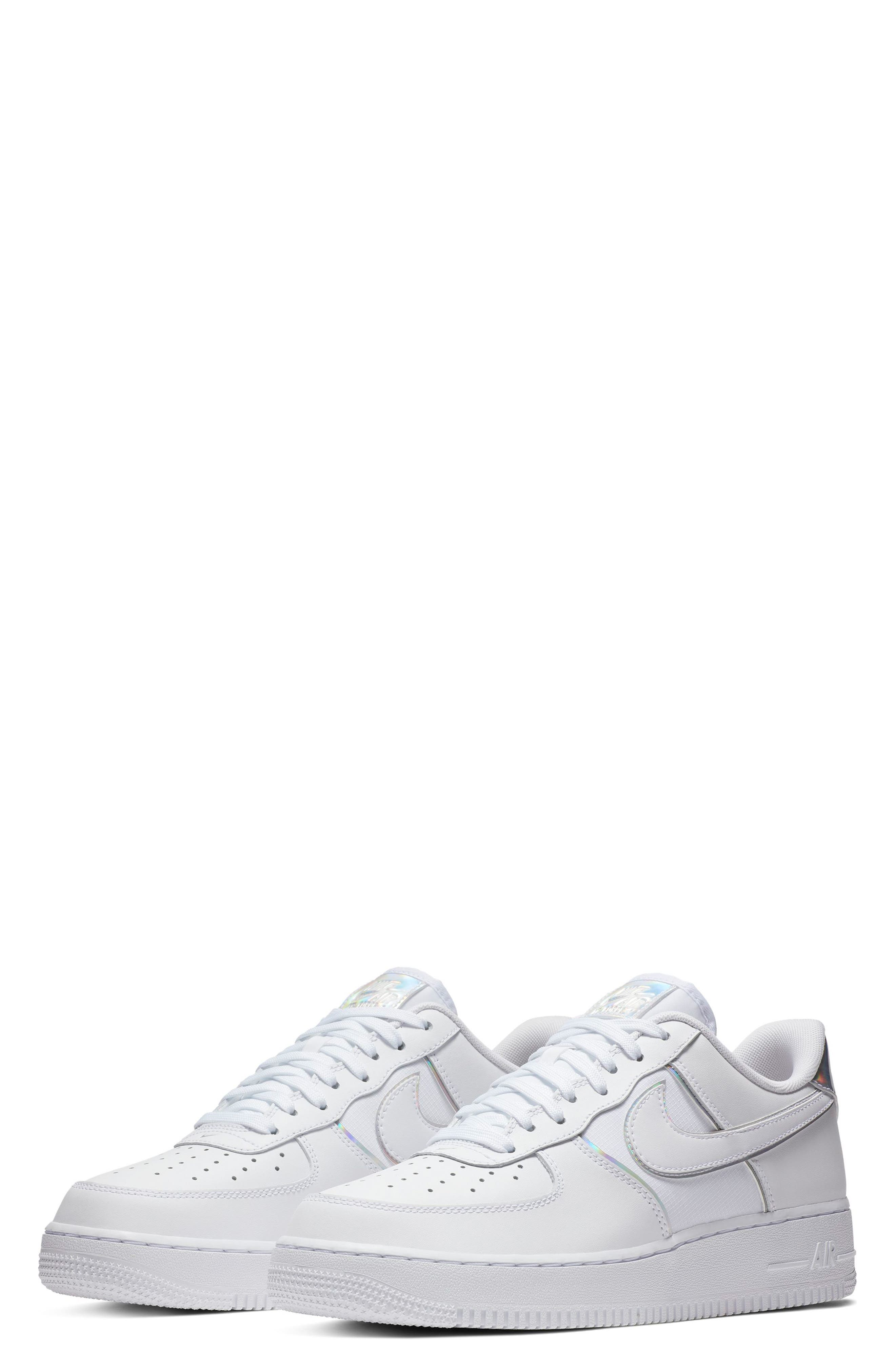 Air Force 1 '07 LV8 4 Sneaker,                             Main thumbnail 1, color,                             WHITE/ WHITE/ WHITE