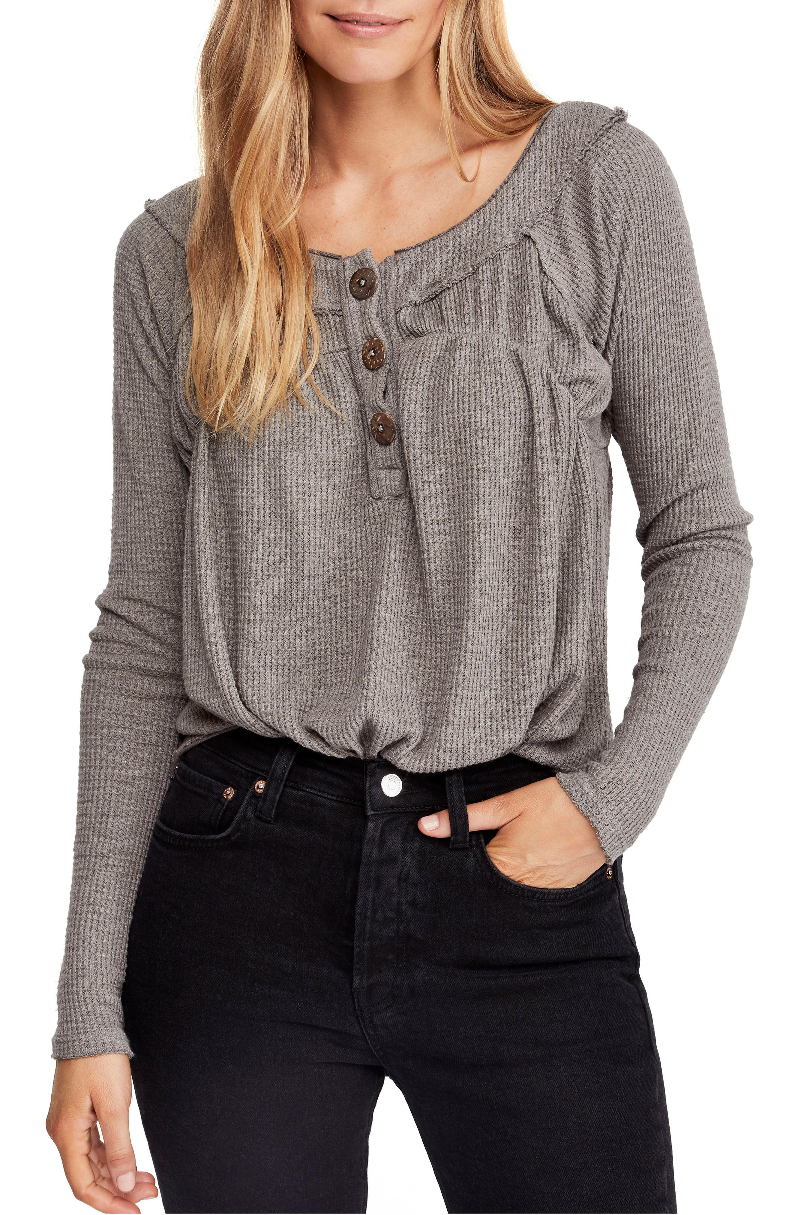 FREE PEOPLE Must Have Henley, Main, color, GREY