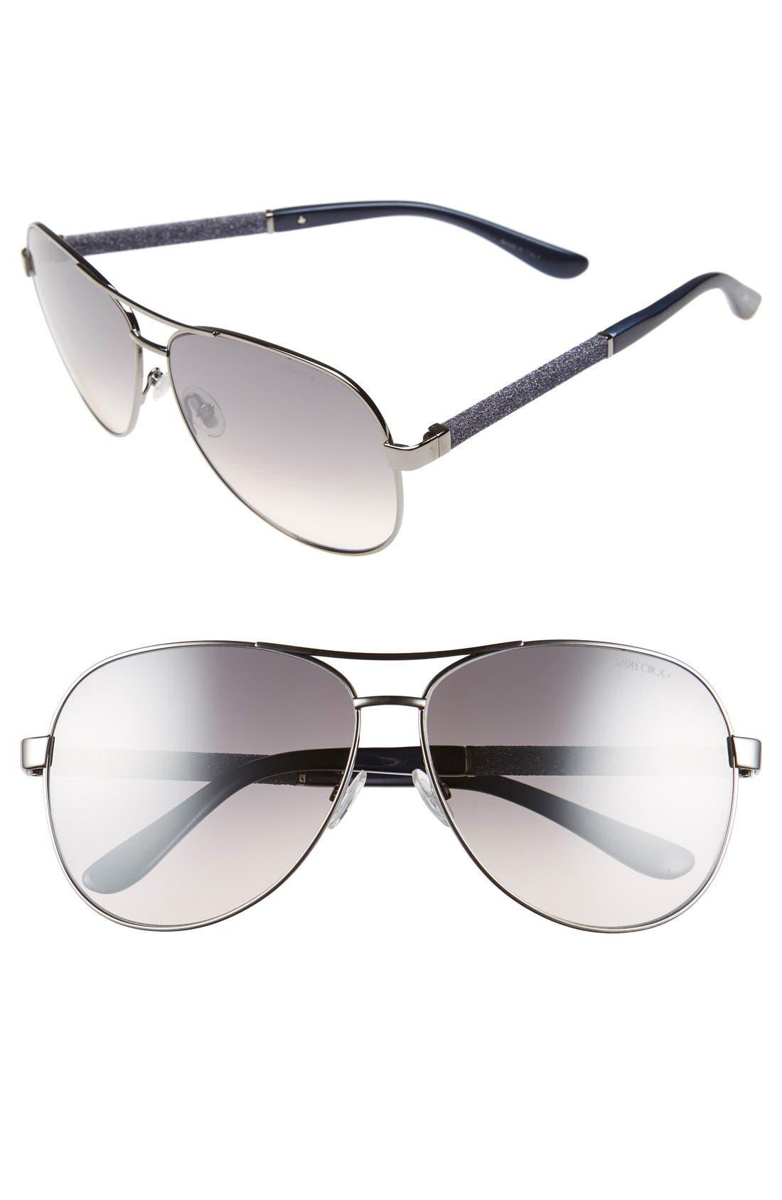 'Lexie' 61mm Aviator Sunglasses,                             Main thumbnail 1, color,