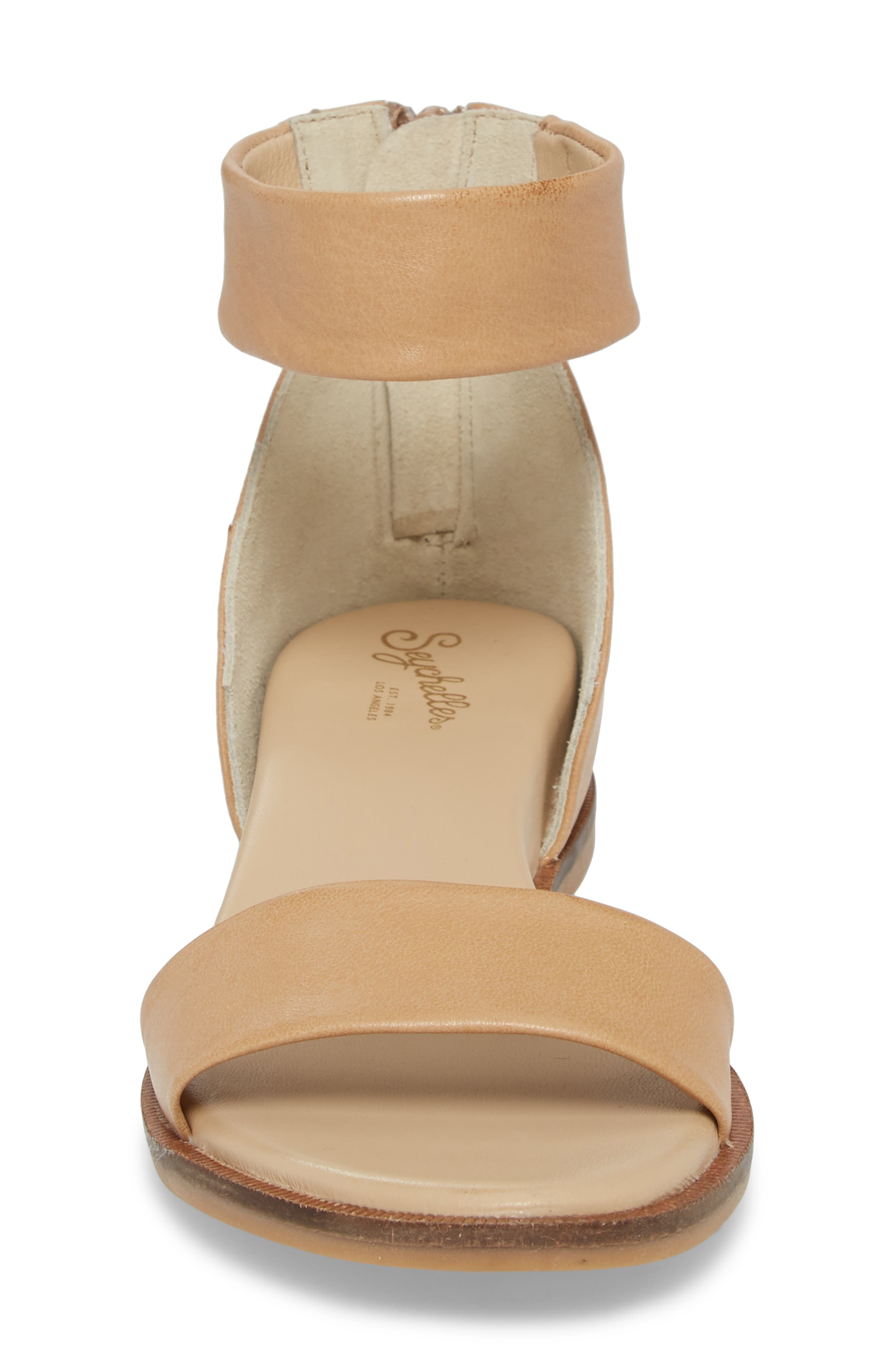Ankle Strap Sandal,                             Alternate thumbnail 4, color,                             VACCHETTA LEATHER