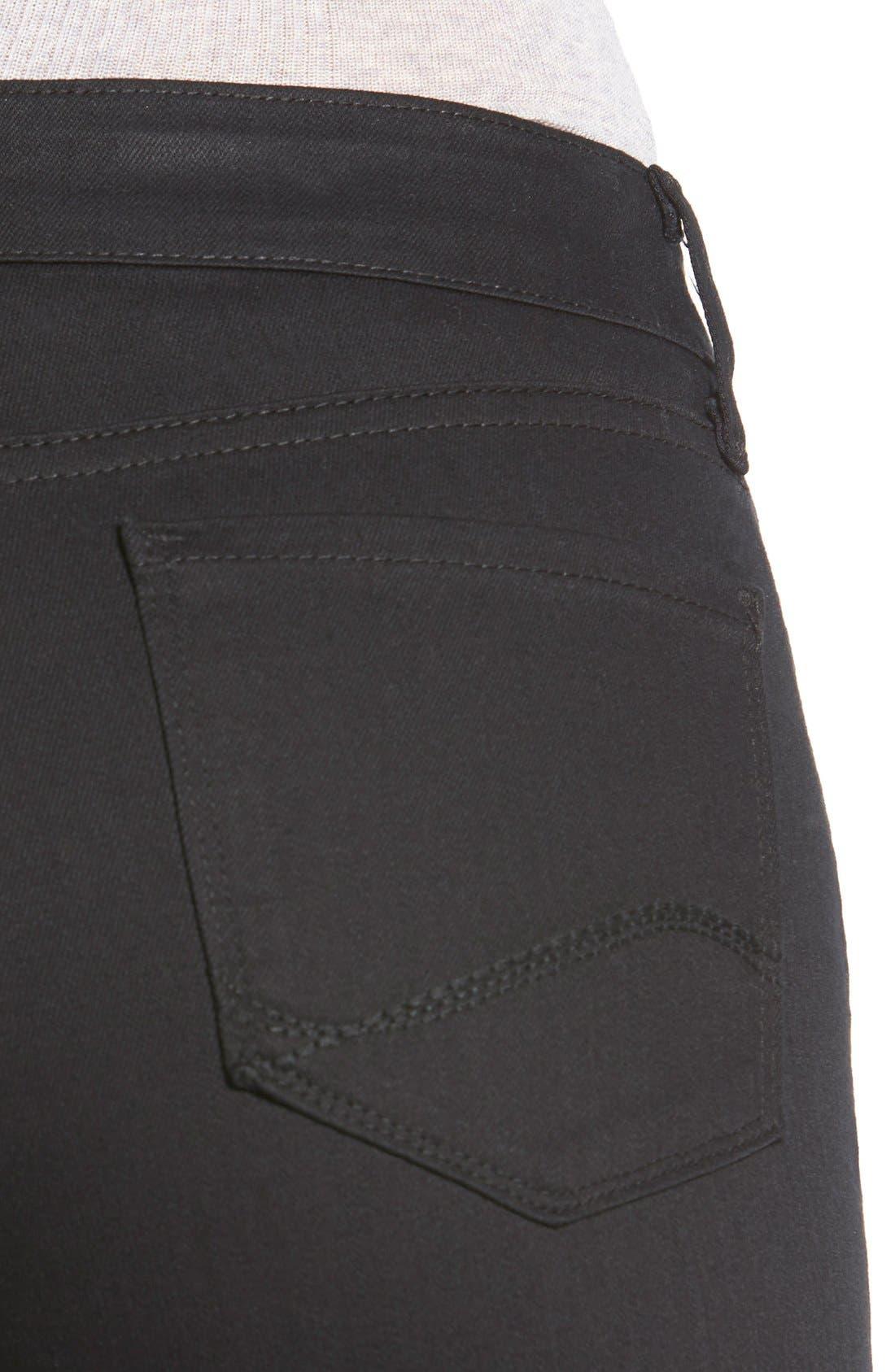 'Samantha' Stretch Slim Straight Leg Jeans,                             Alternate thumbnail 2, color,                             001