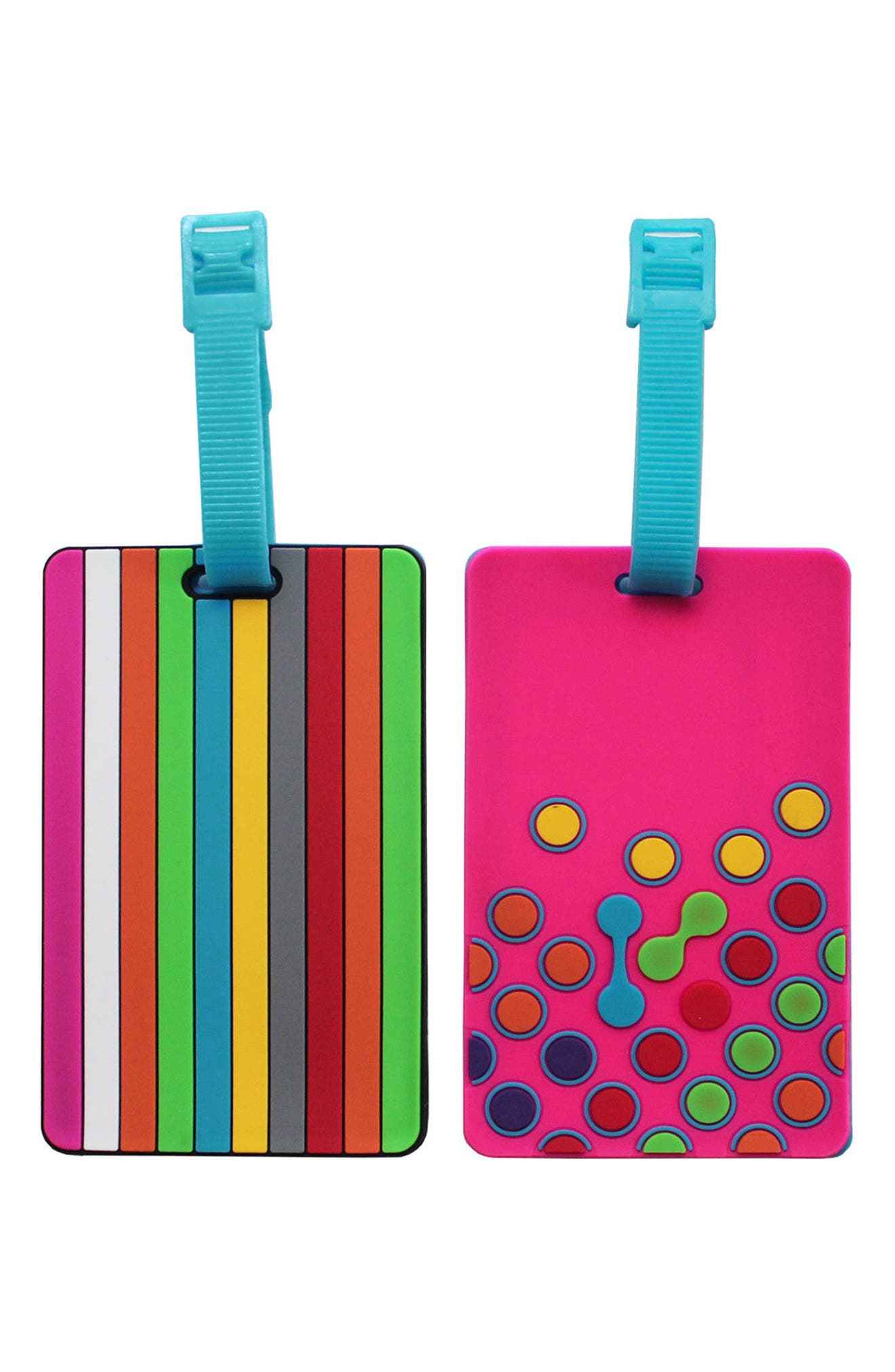 Essentials Set of 2 Rubber Luggage Tags,                             Main thumbnail 3, color,