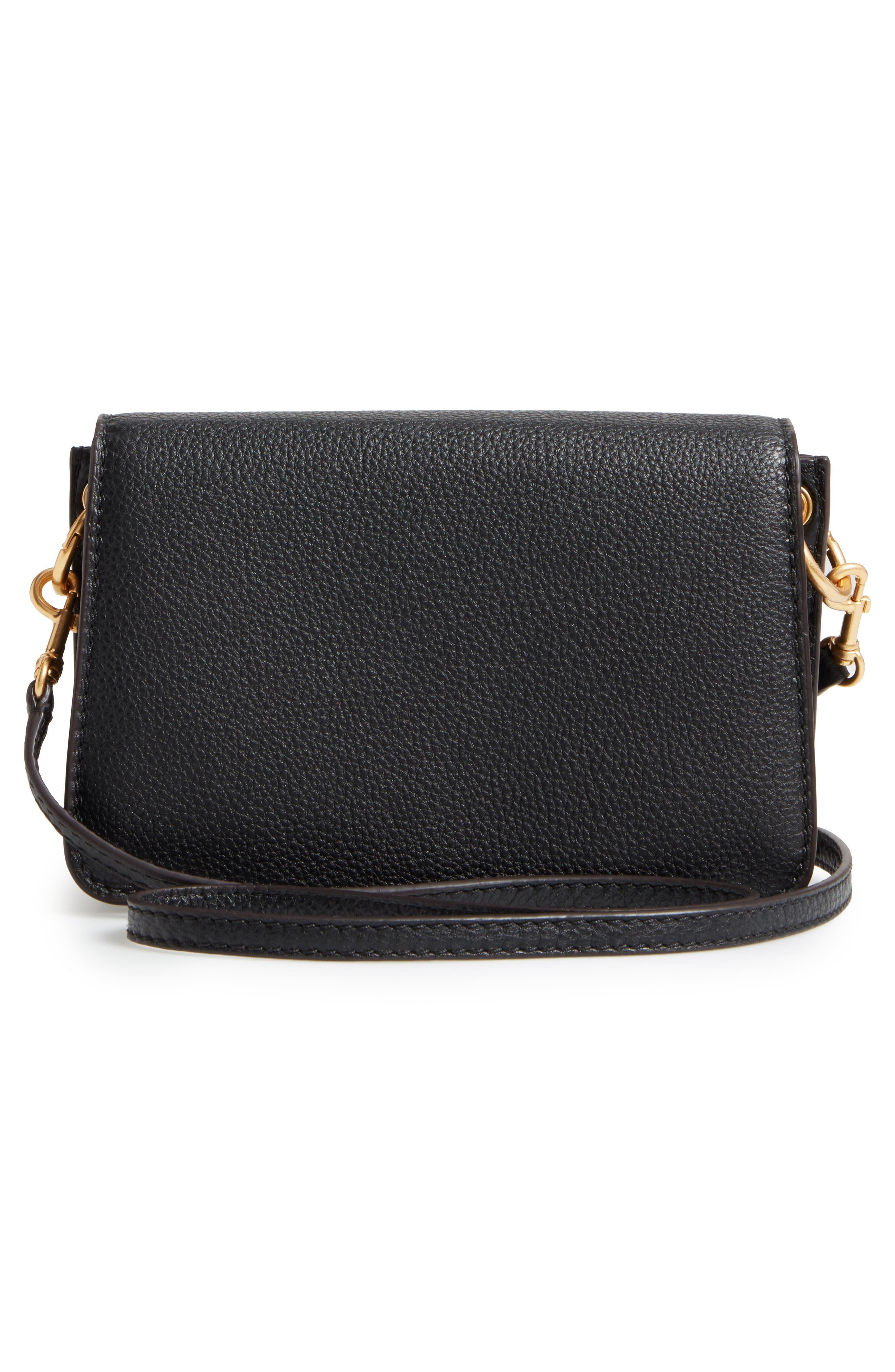 McGraw Leather Shoulder Bag,                             Alternate thumbnail 3, color,                             001