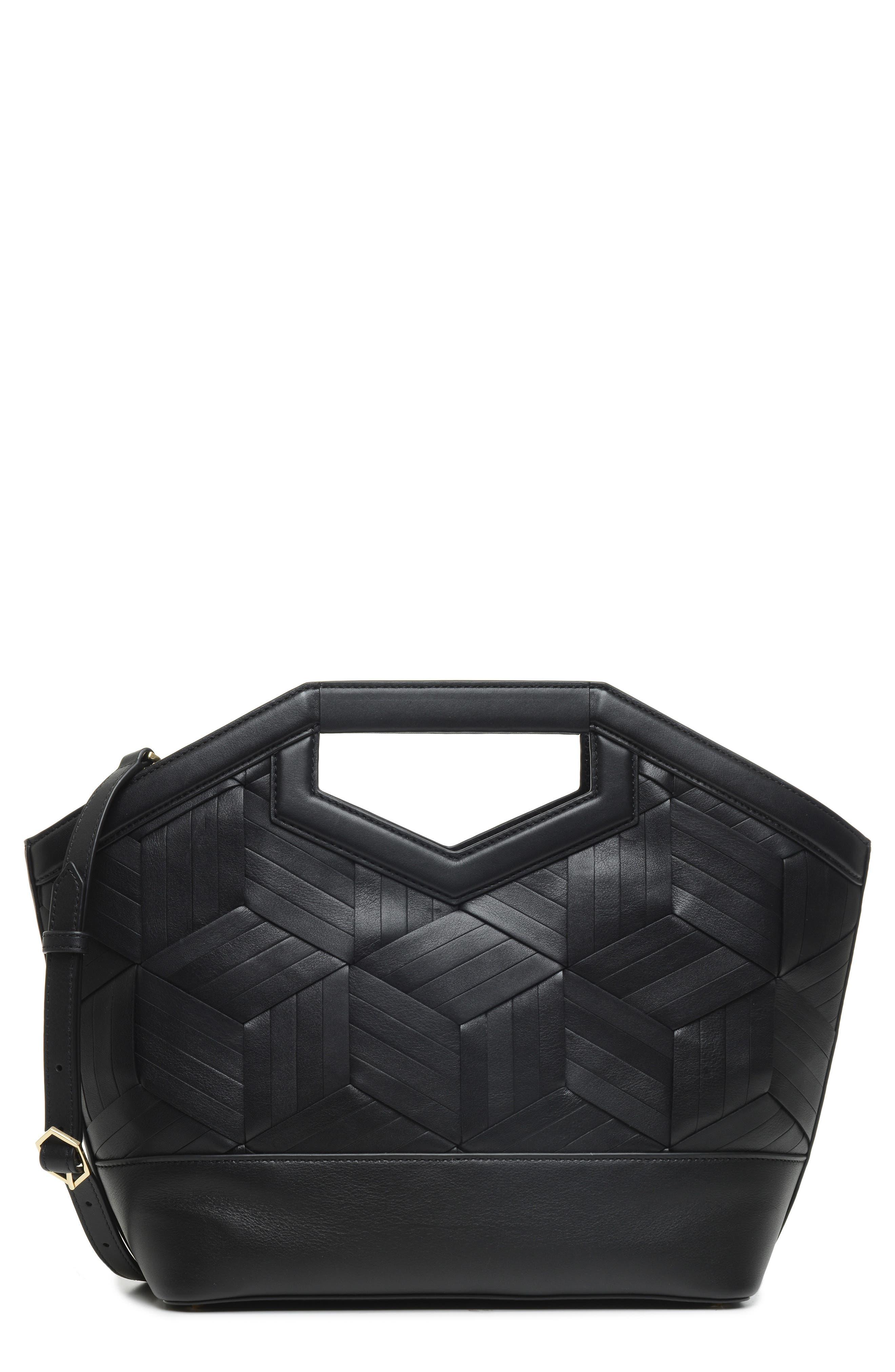 Sonder Leather Tote,                             Main thumbnail 1, color,                             BLACK
