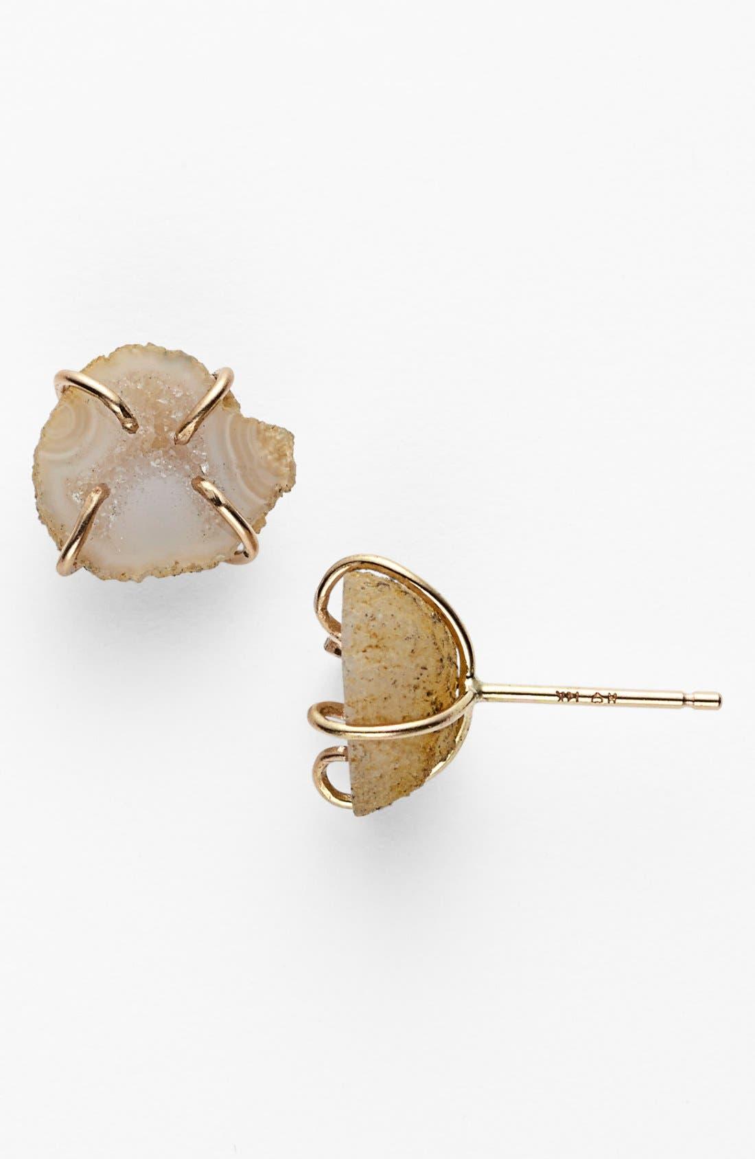 MELISSA JOY MANNING Stone Stud Earrings, Main, color, 710
