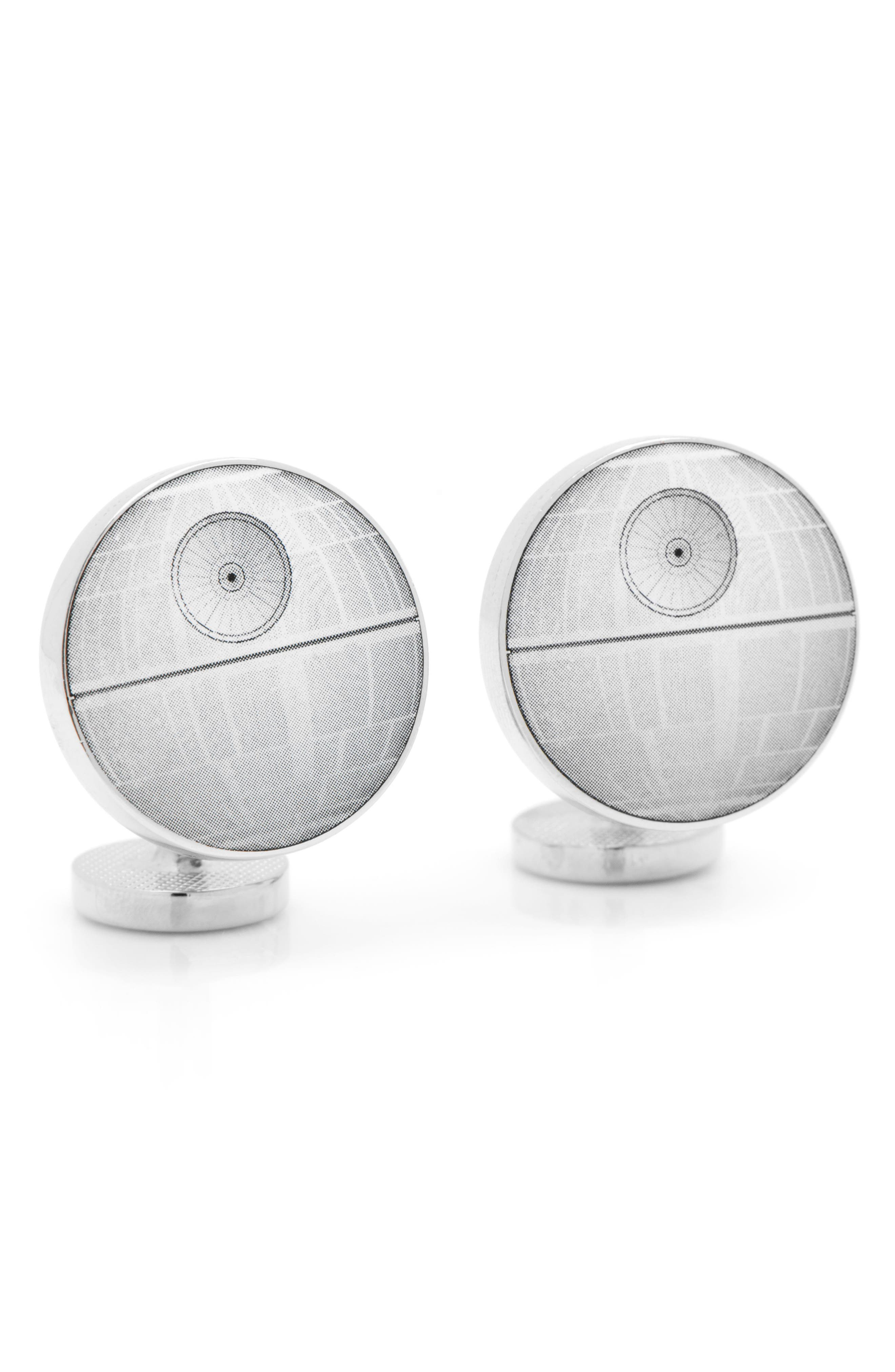 'Star Wars<sup>™</sup> - Death Star Blueprint' Cuff Links,                             Alternate thumbnail 5, color,                             020
