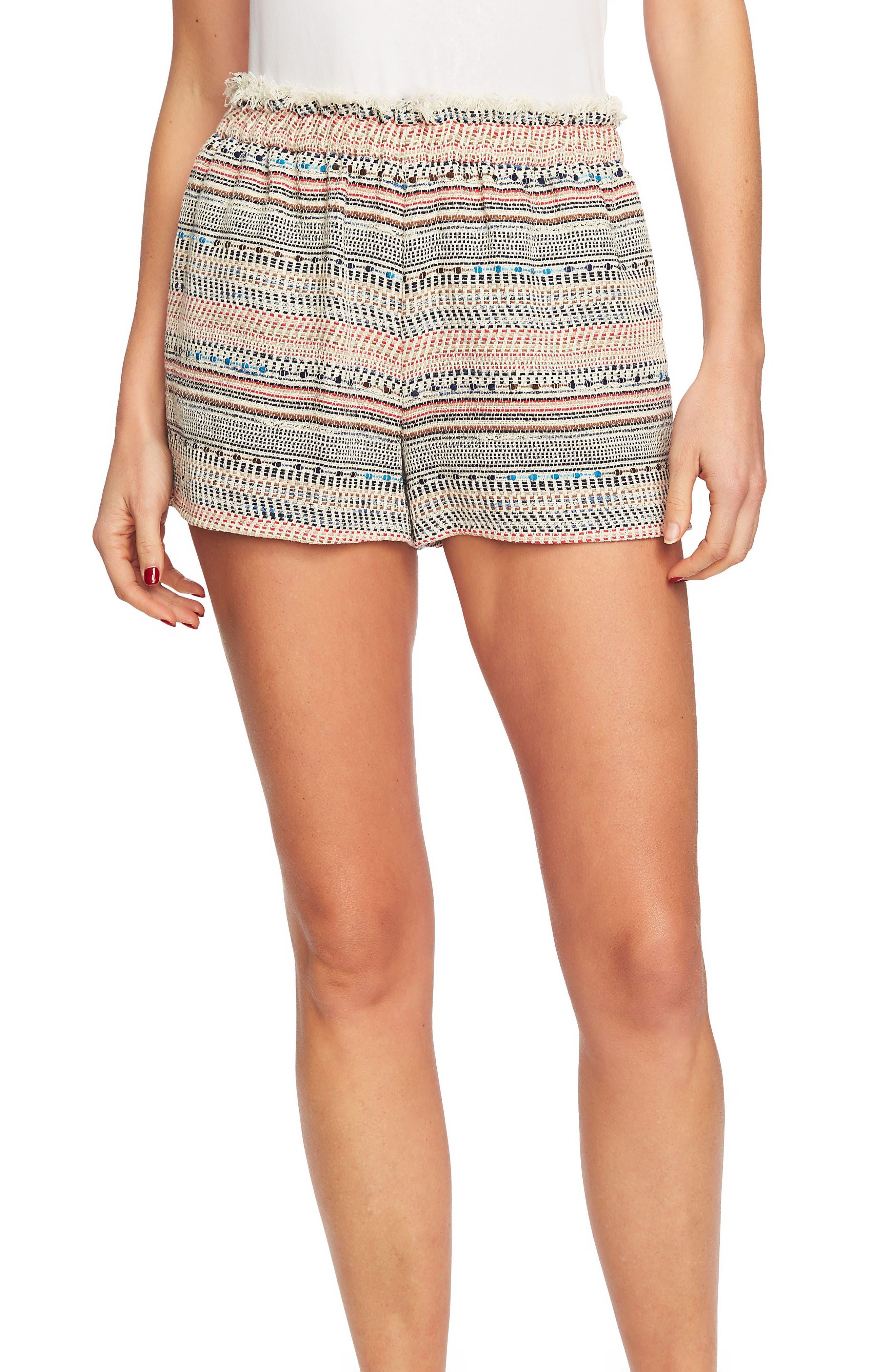 Paperbag Waist Tweed Shorts,                             Main thumbnail 1, color,                             908