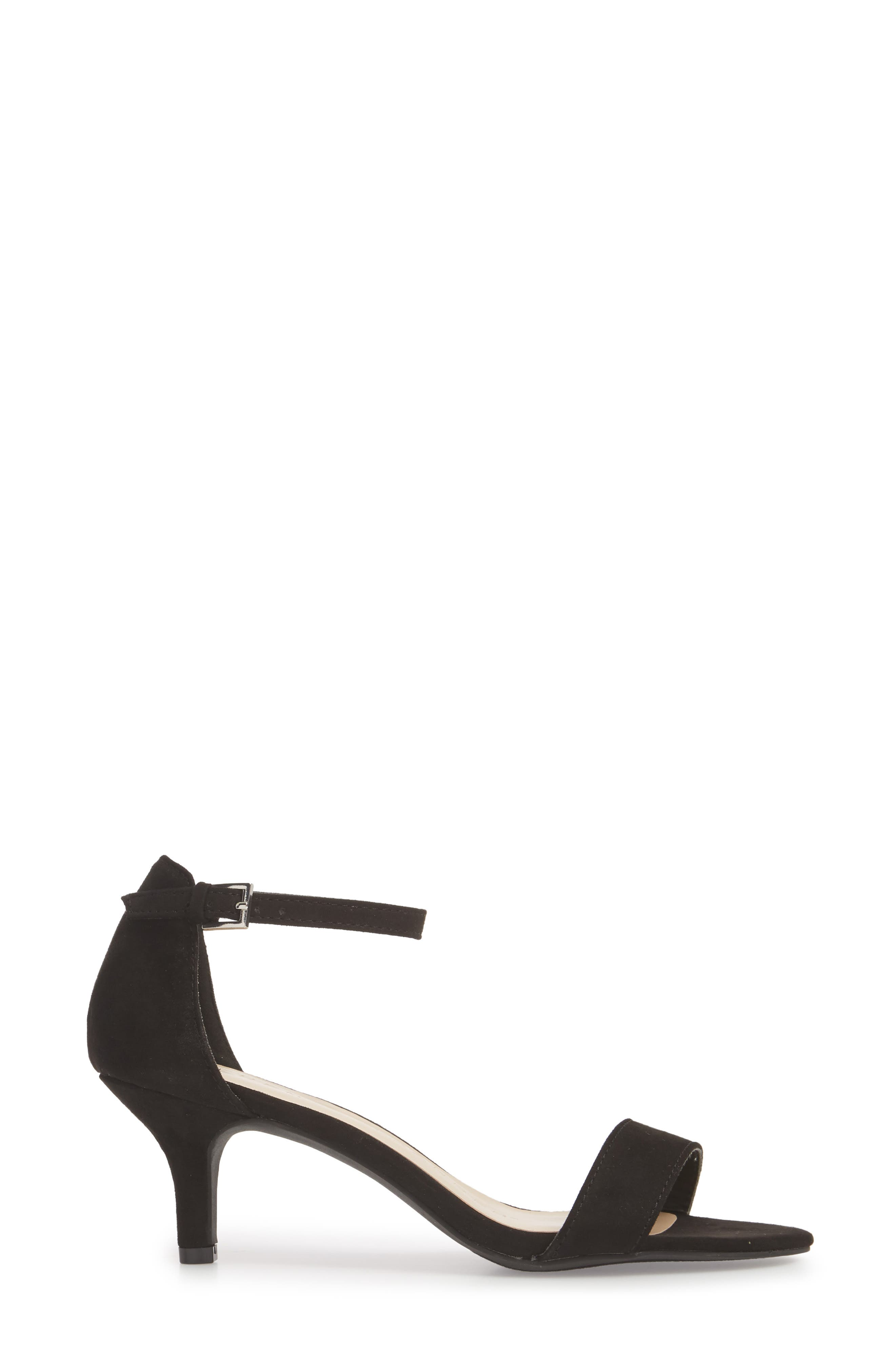 Monroe Sandal,                             Alternate thumbnail 3, color,                             BLACK SUEDE