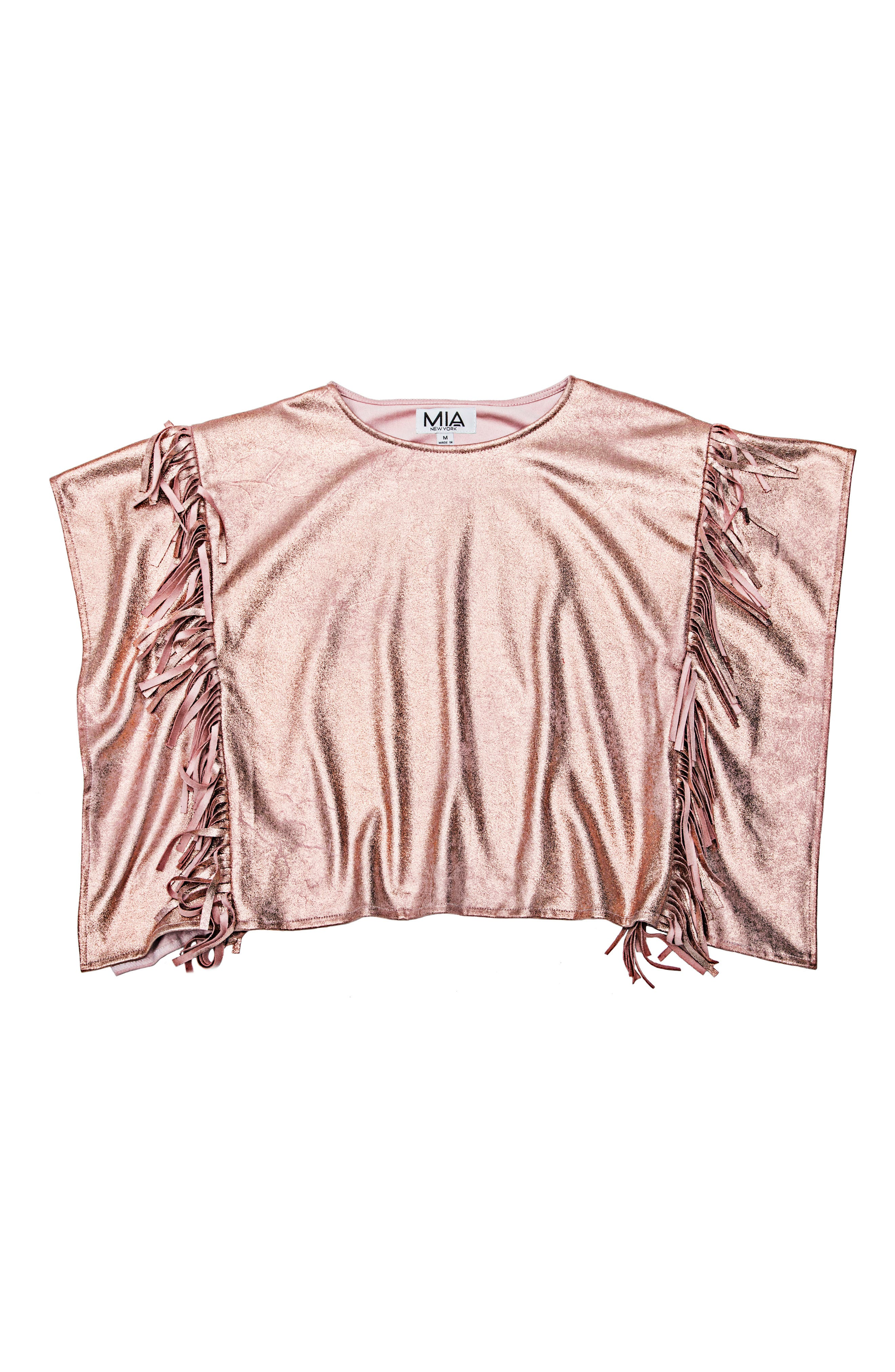 Metallic Fringe Poncho,                             Main thumbnail 1, color,                             650