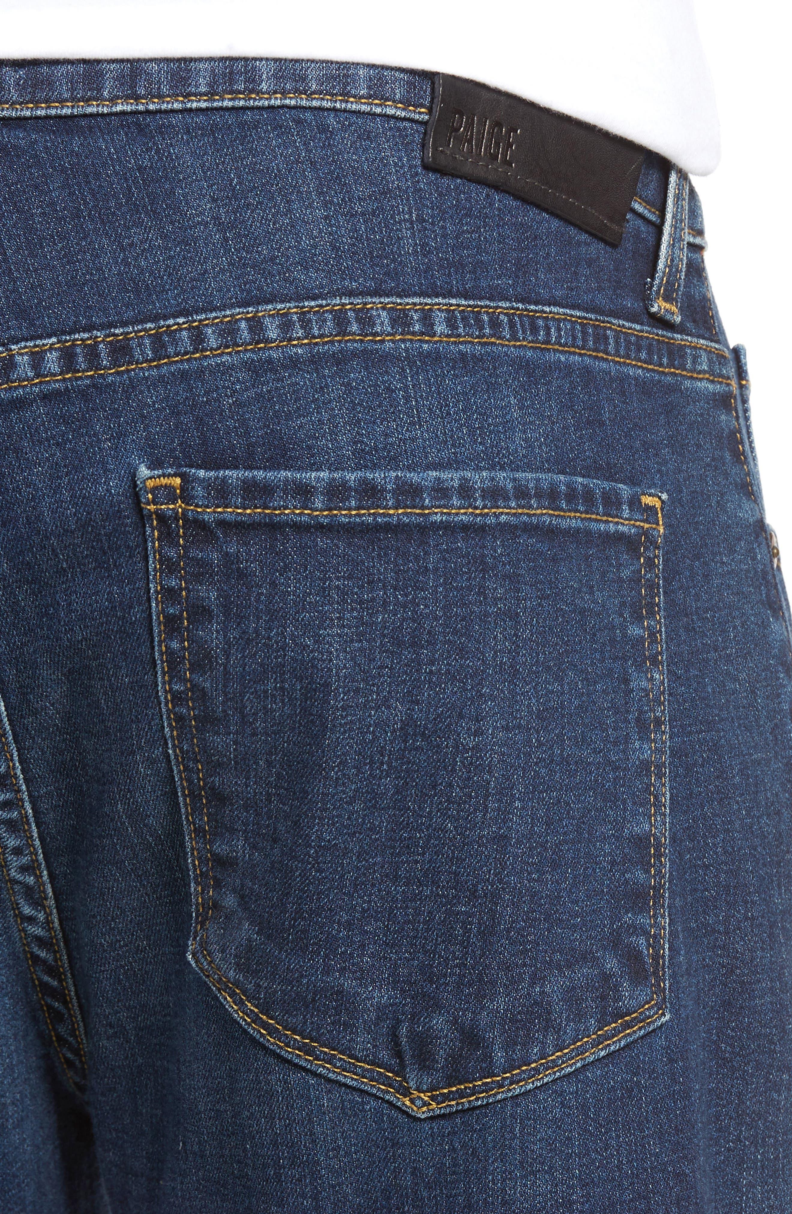 Normandie Straight Leg Jeans,                             Alternate thumbnail 4, color,                             ANGELO