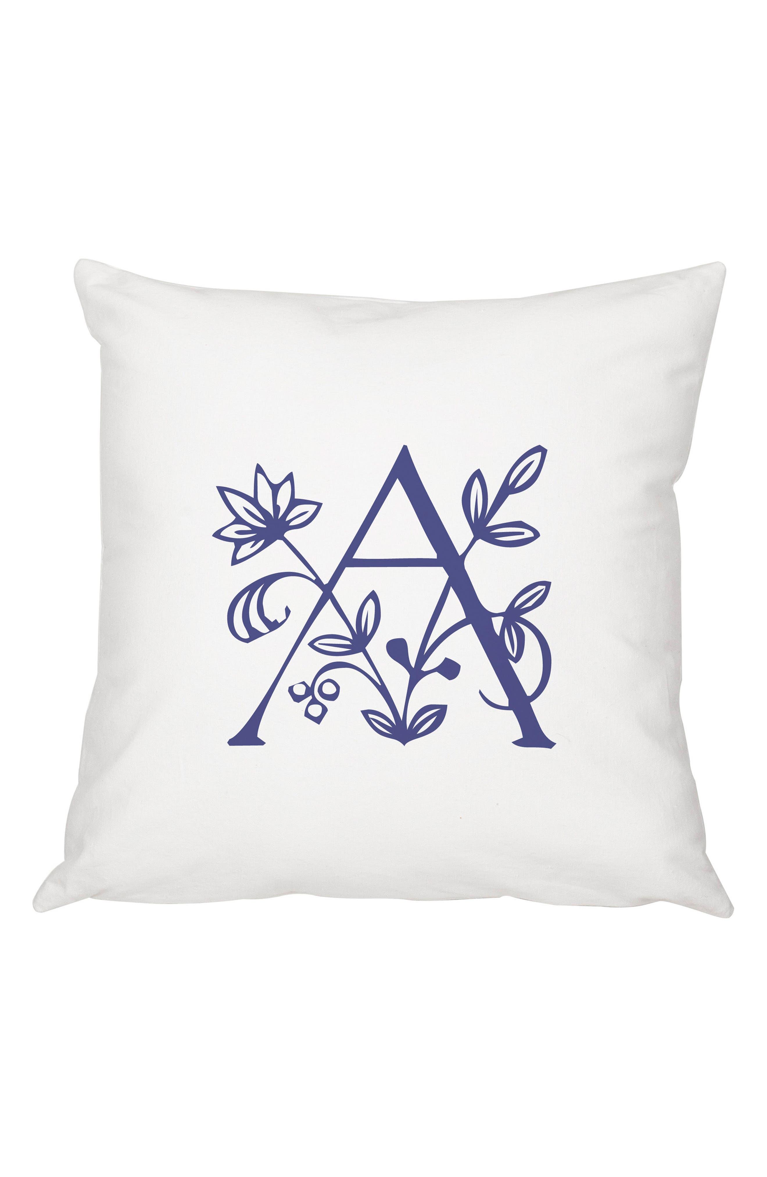 Floral Monogram Accent Pillow,                             Main thumbnail 1, color,                             400
