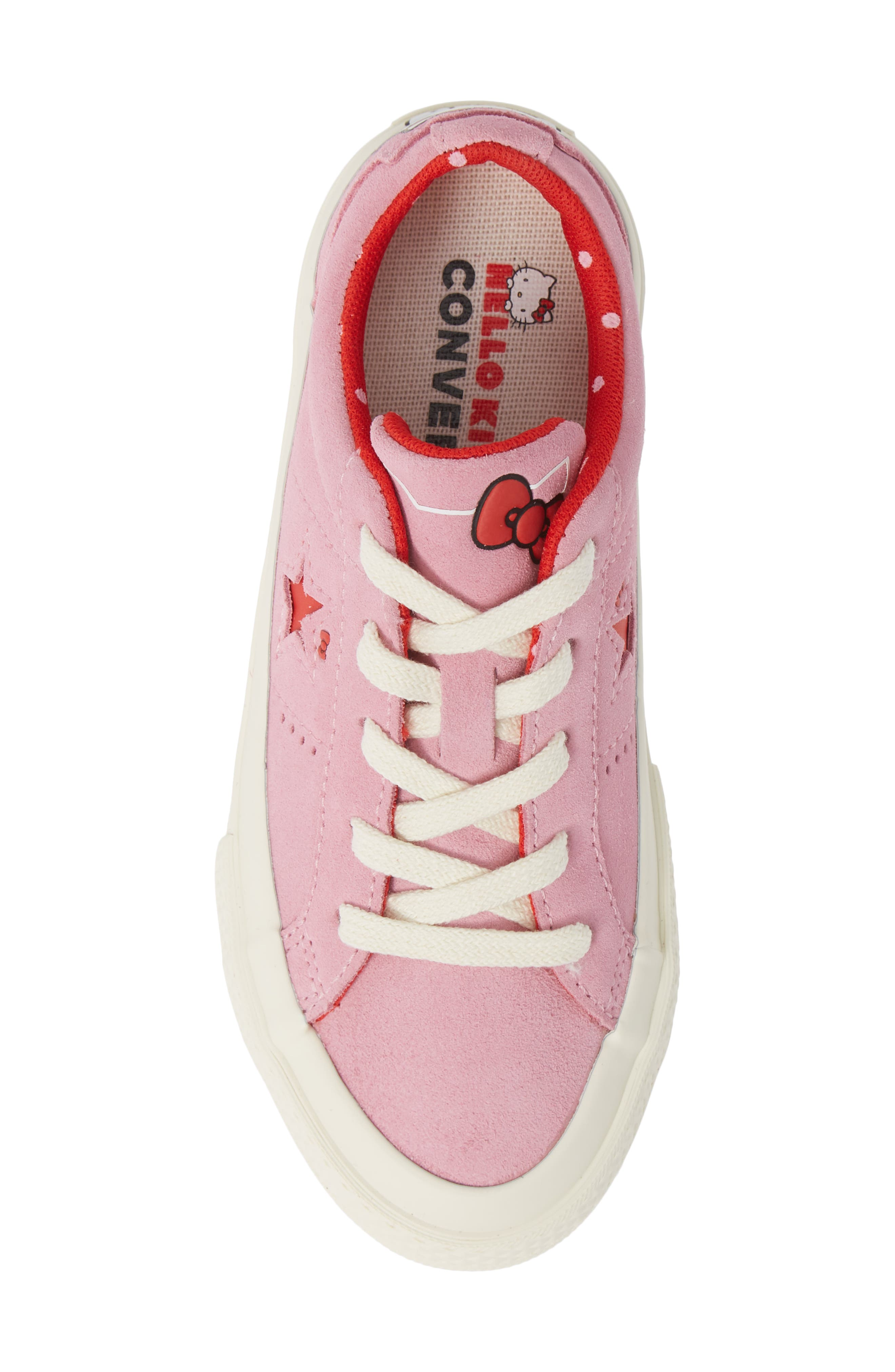 One Star Hello Kitty<sup>®</sup> Sneaker,                             Alternate thumbnail 5, color,                             PINK PRISM