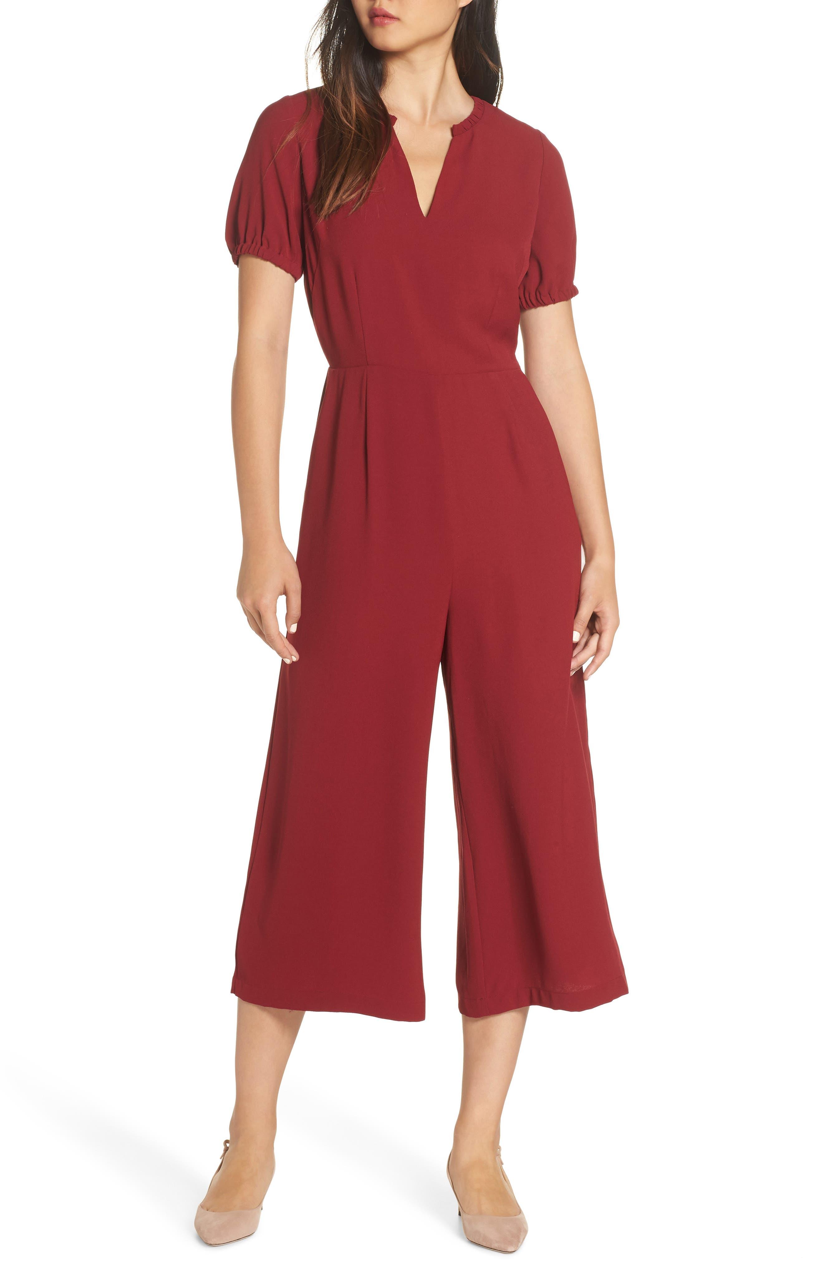 19 COOPER Crop Jumpsuit in Red