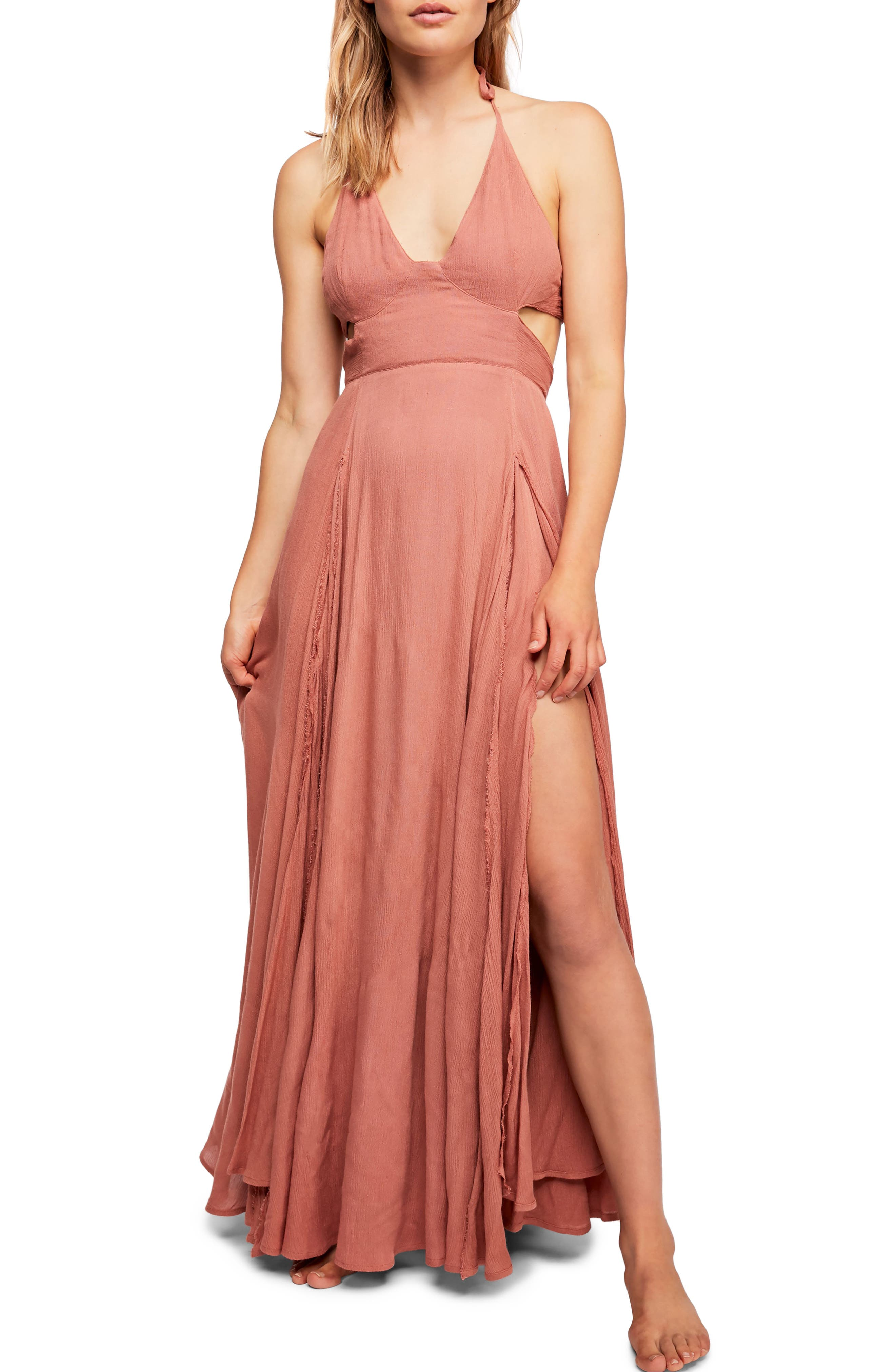 Endless Summer By Free People Lillie Maxi Dress, Orange