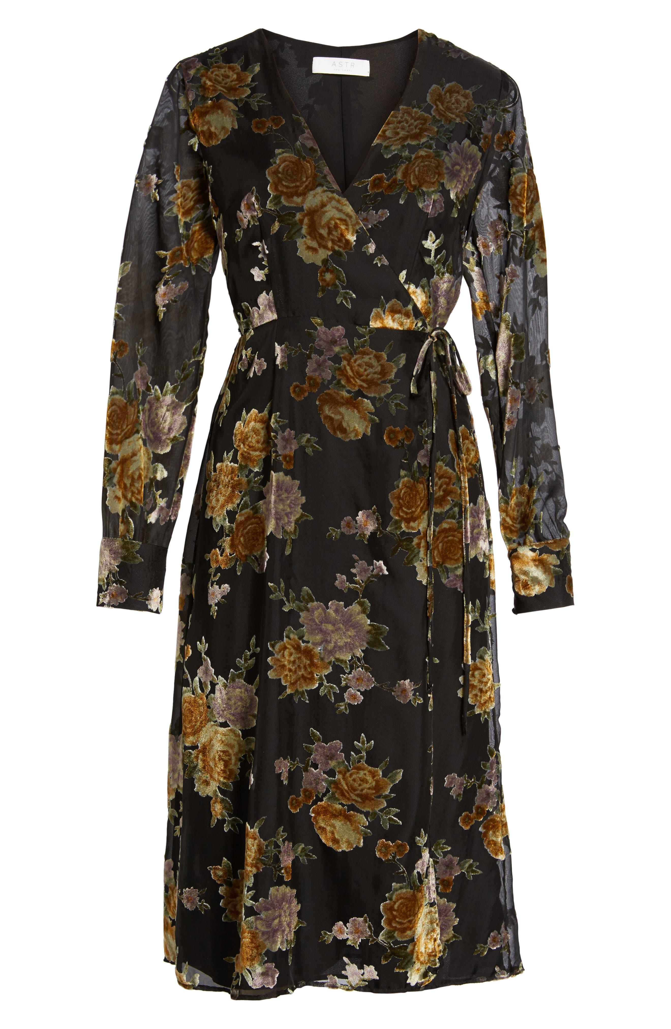 Sonya Wrap Midi Dress,                             Alternate thumbnail 6, color,                             003