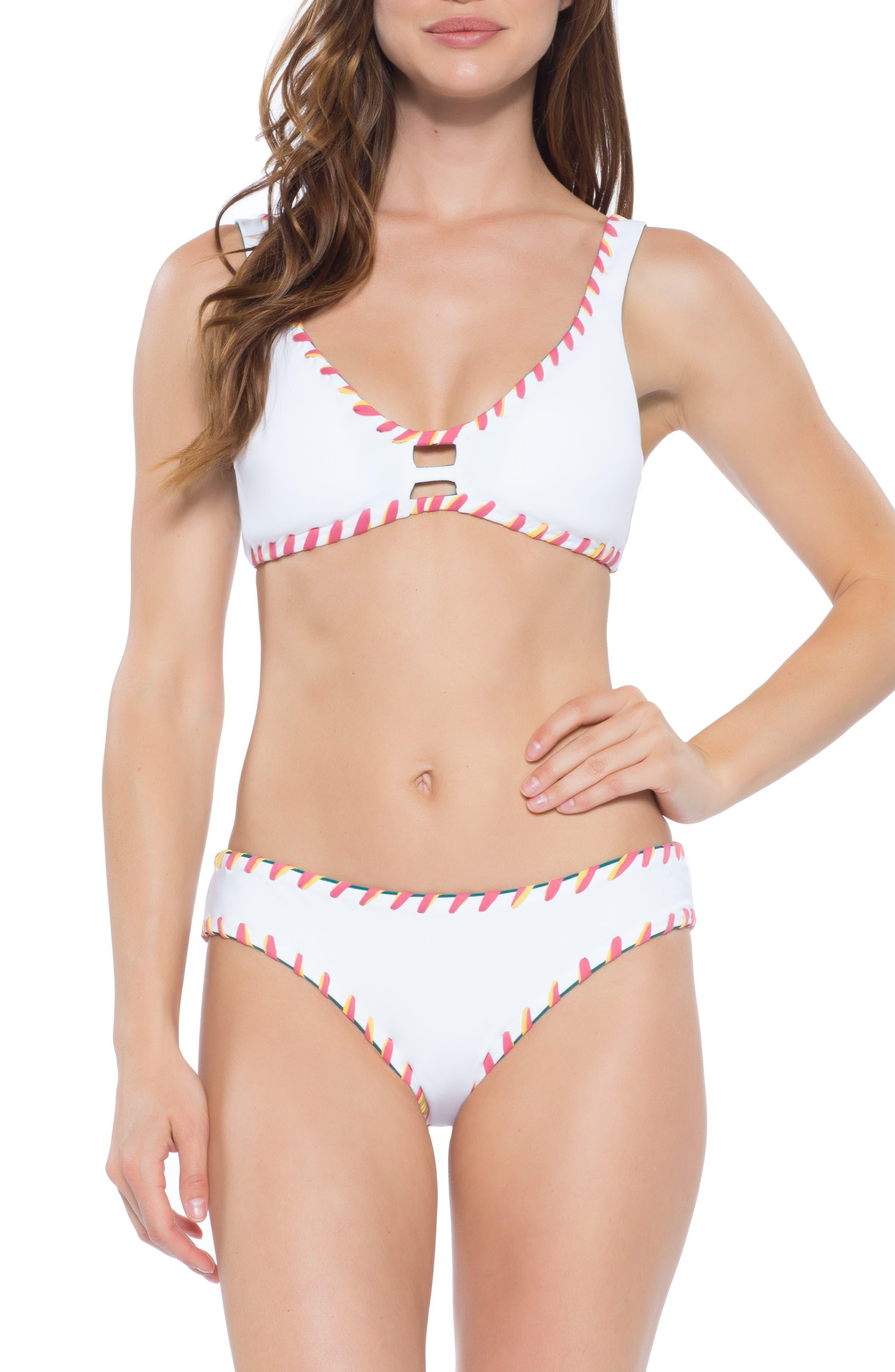 BECCA,                             Camille Reversible Bikini Top,                             Alternate thumbnail 7, color,                             FERN