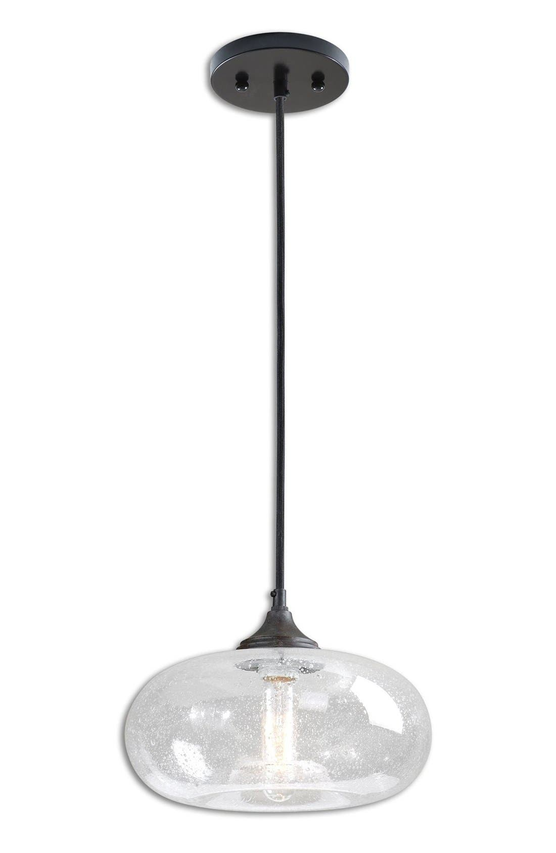'Torus' Seeded Glass Mini Pendant Light,                         Main,                         color, 100