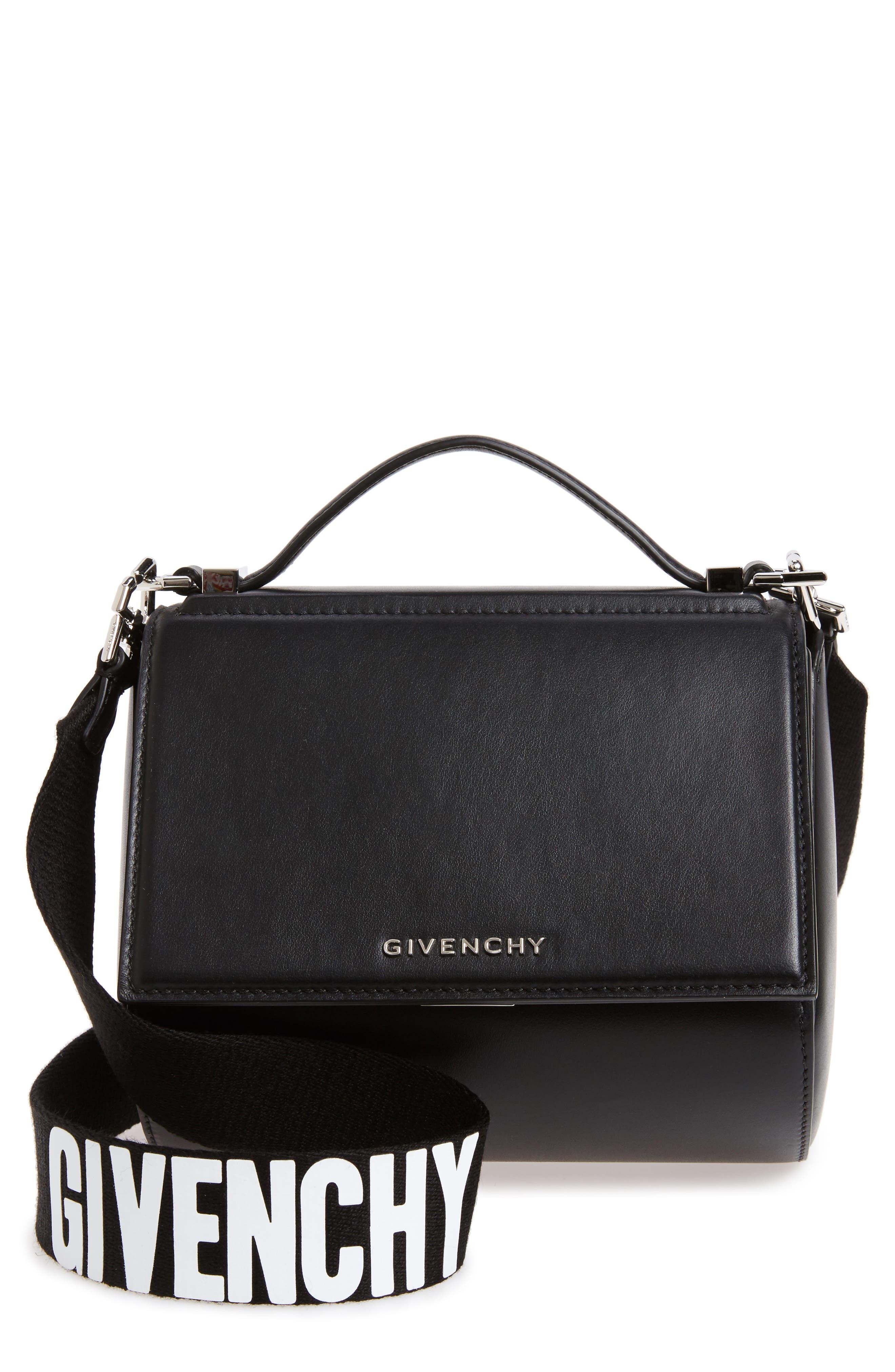 Mini Pandora Box Leather Shoulder Bag,                         Main,                         color, 001