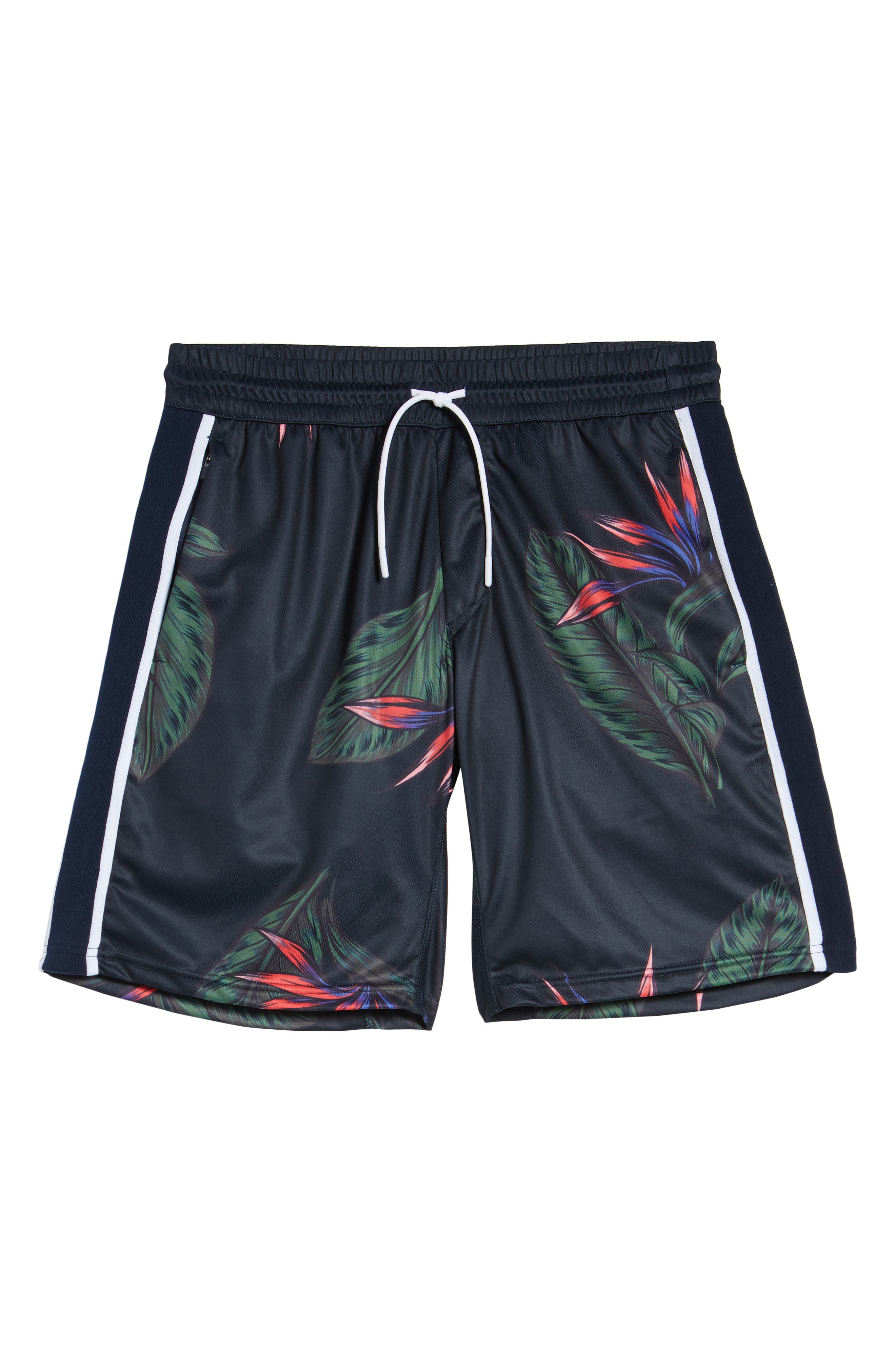 Lotus Sideline Shorts,                             Alternate thumbnail 6, color,                             NAVY