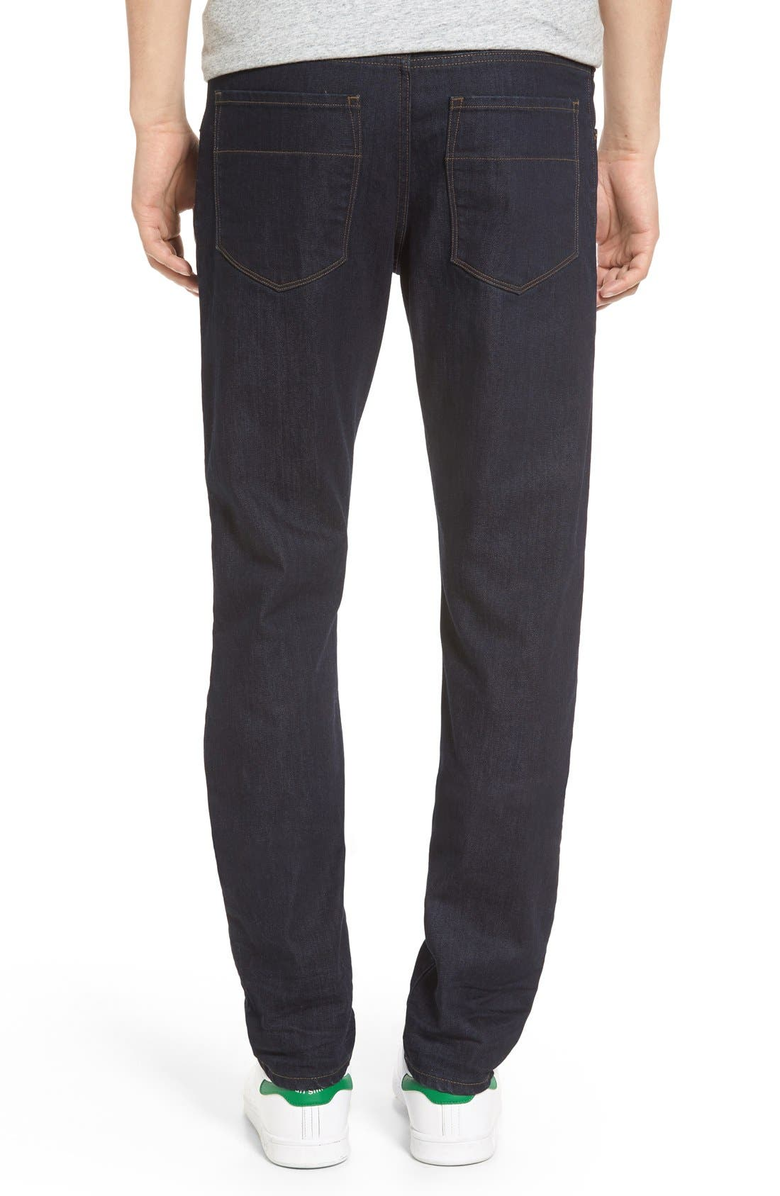 'Jones' Slim Straight Leg Jeans,                             Alternate thumbnail 5, color,                             418