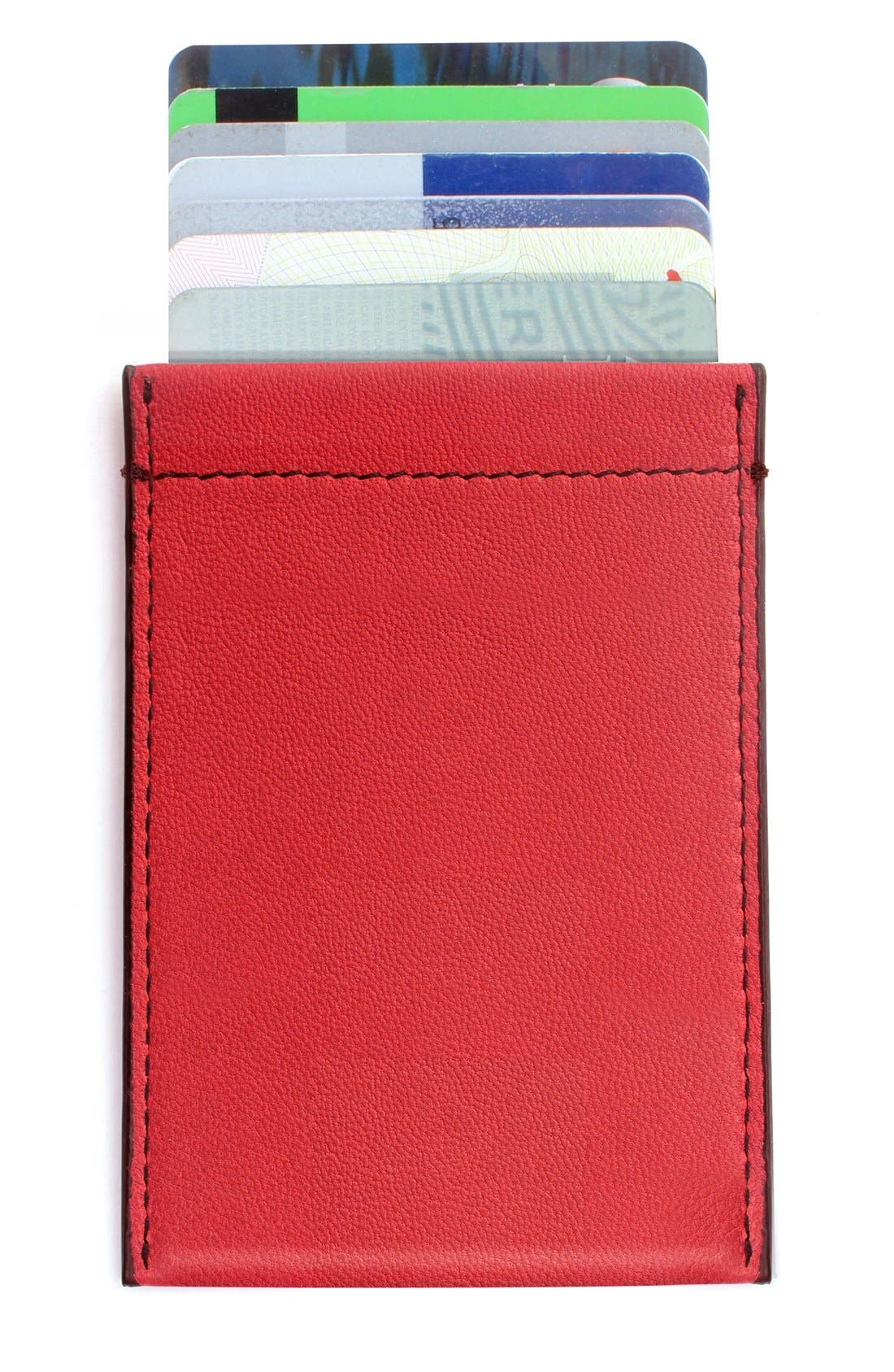 RFID Card Case,                             Alternate thumbnail 2, color,                             RED