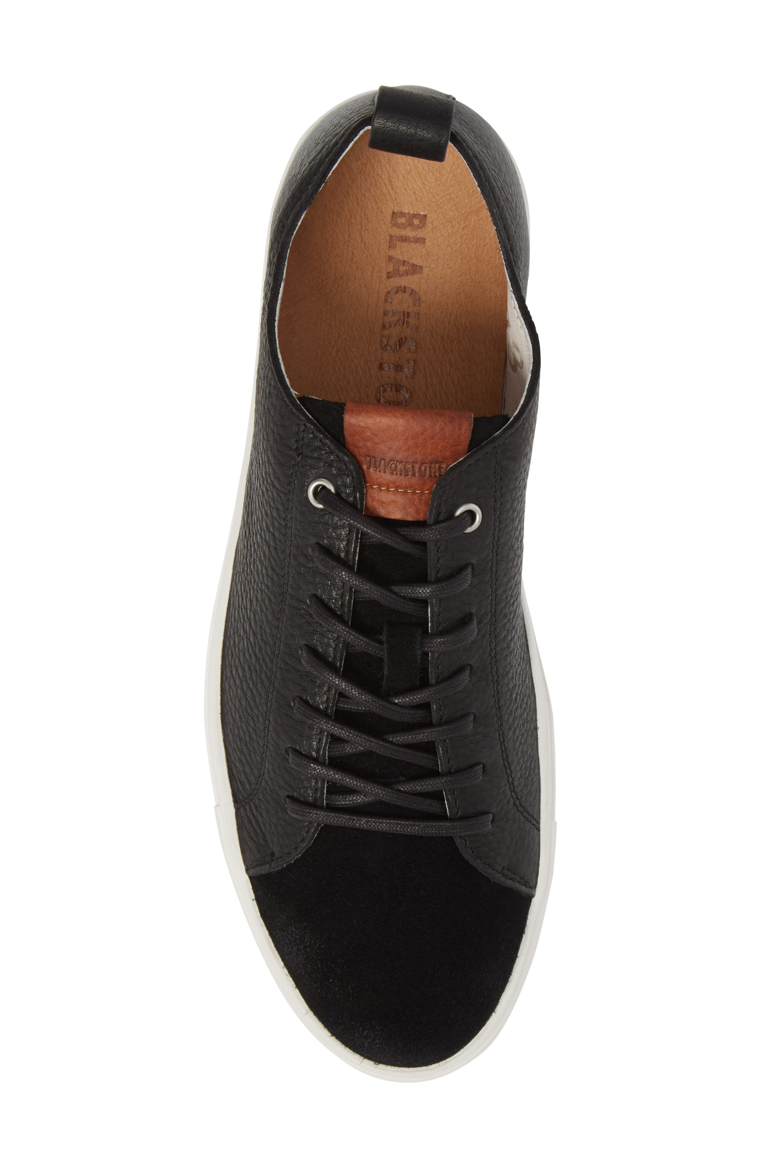PM46 Low Top Sneaker,                             Alternate thumbnail 5, color,                             BLACK LEATHER